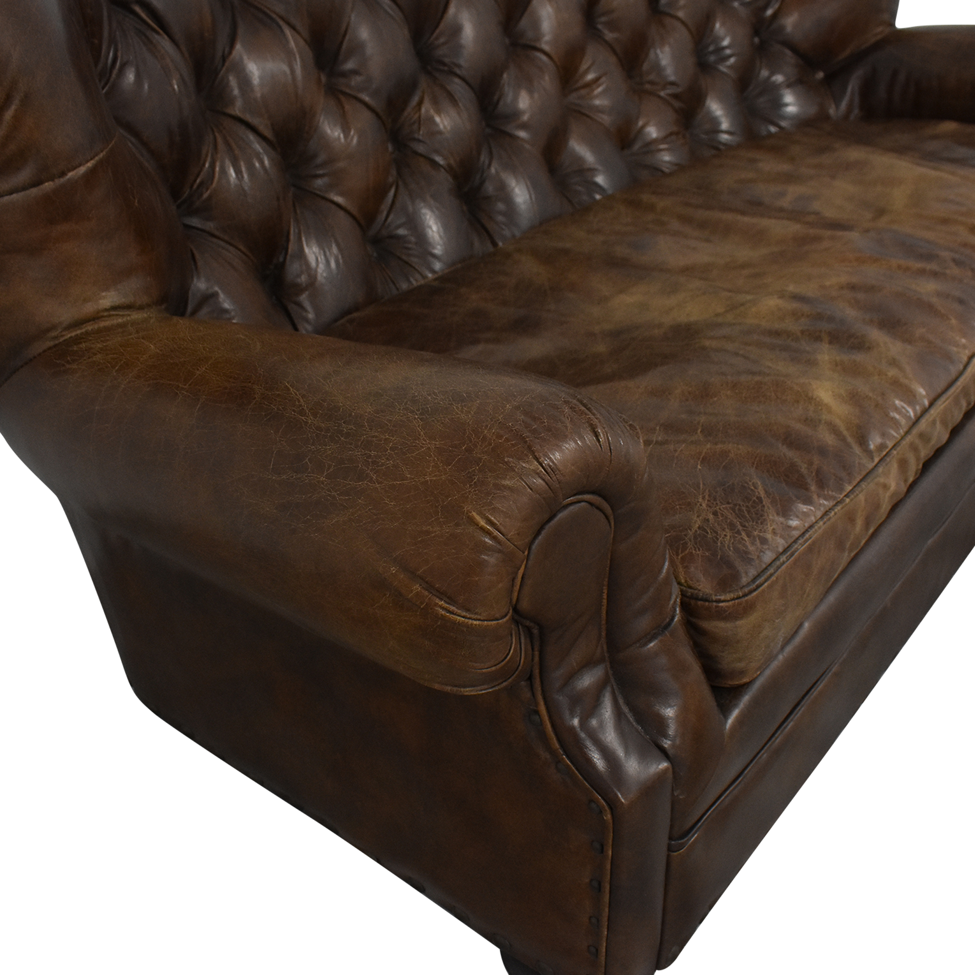 shop Restoration Hardware Churchill Leather Sofa Restoration Hardware