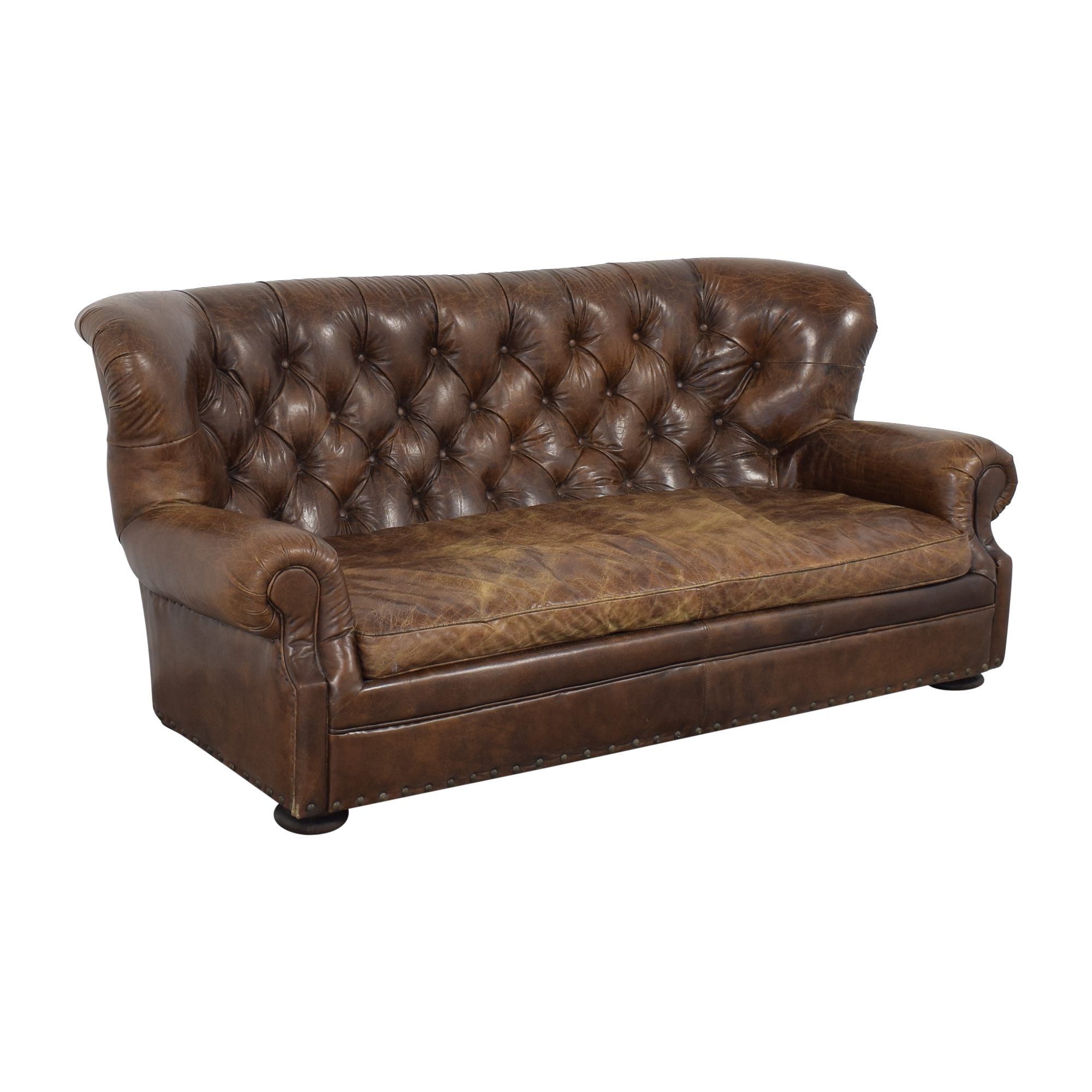 buy Restoration Hardware Restoration Hardware Churchill Leather Sofa online