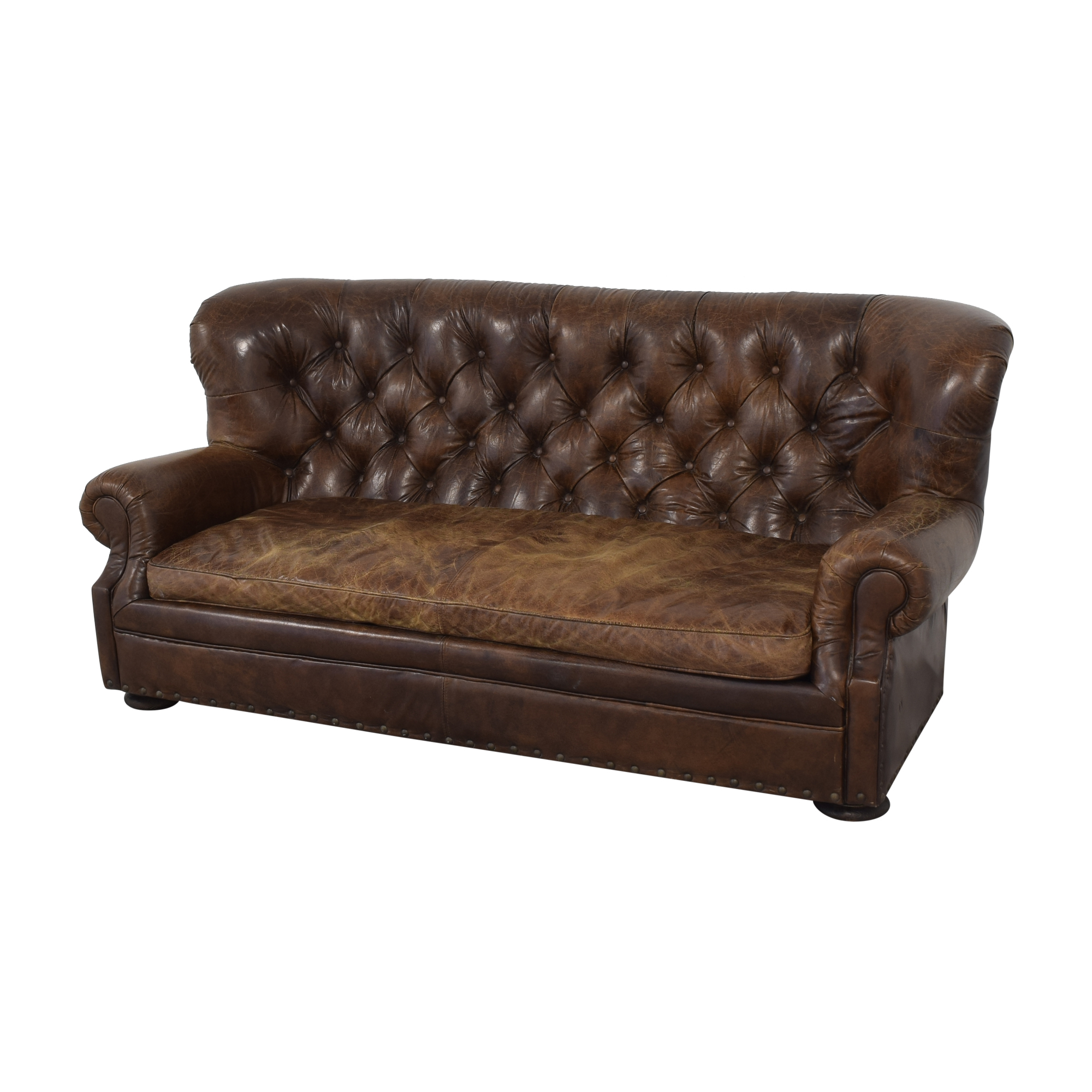 shop Restoration Hardware Churchill Leather Sofa Restoration Hardware Sofas
