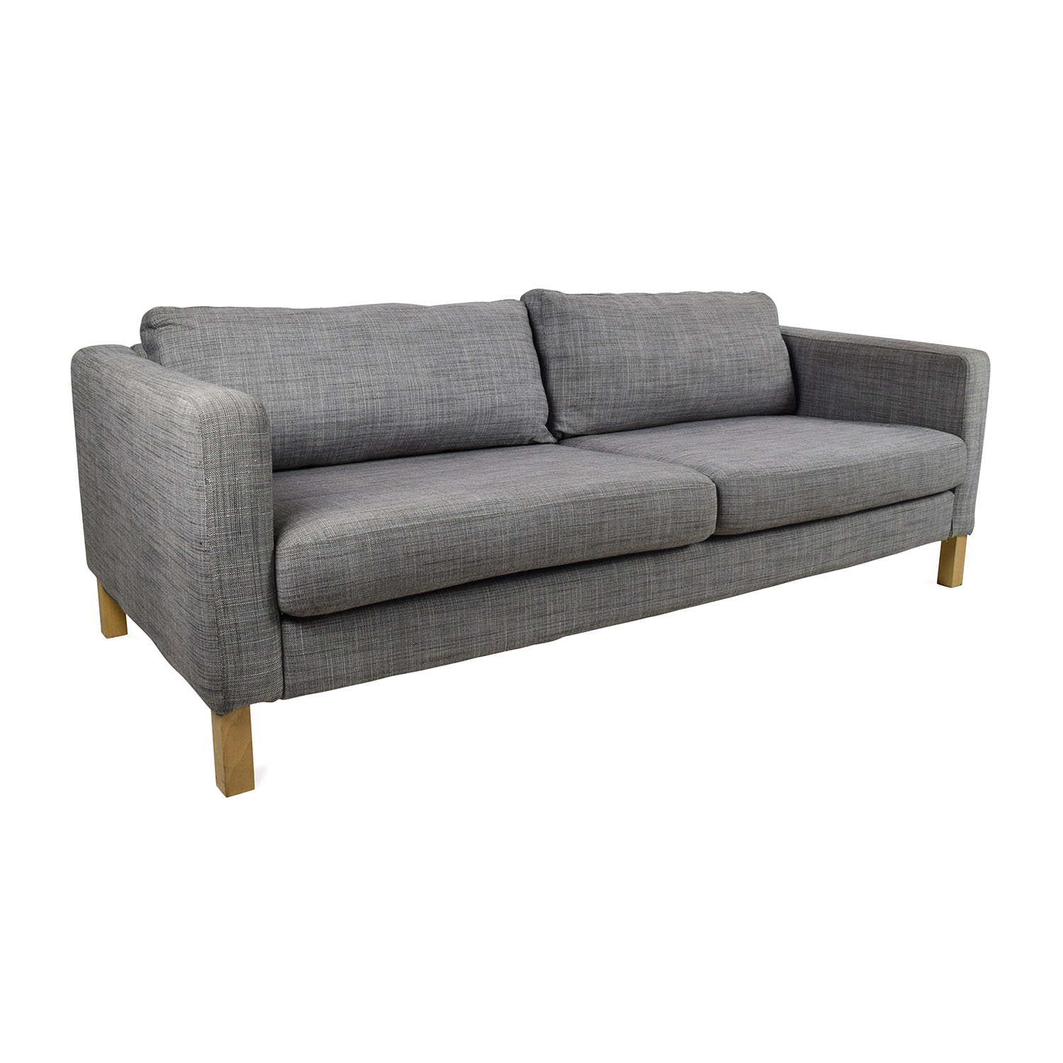 50 off ikea ikea karlstad sofa sofas for Ikea gray sofa