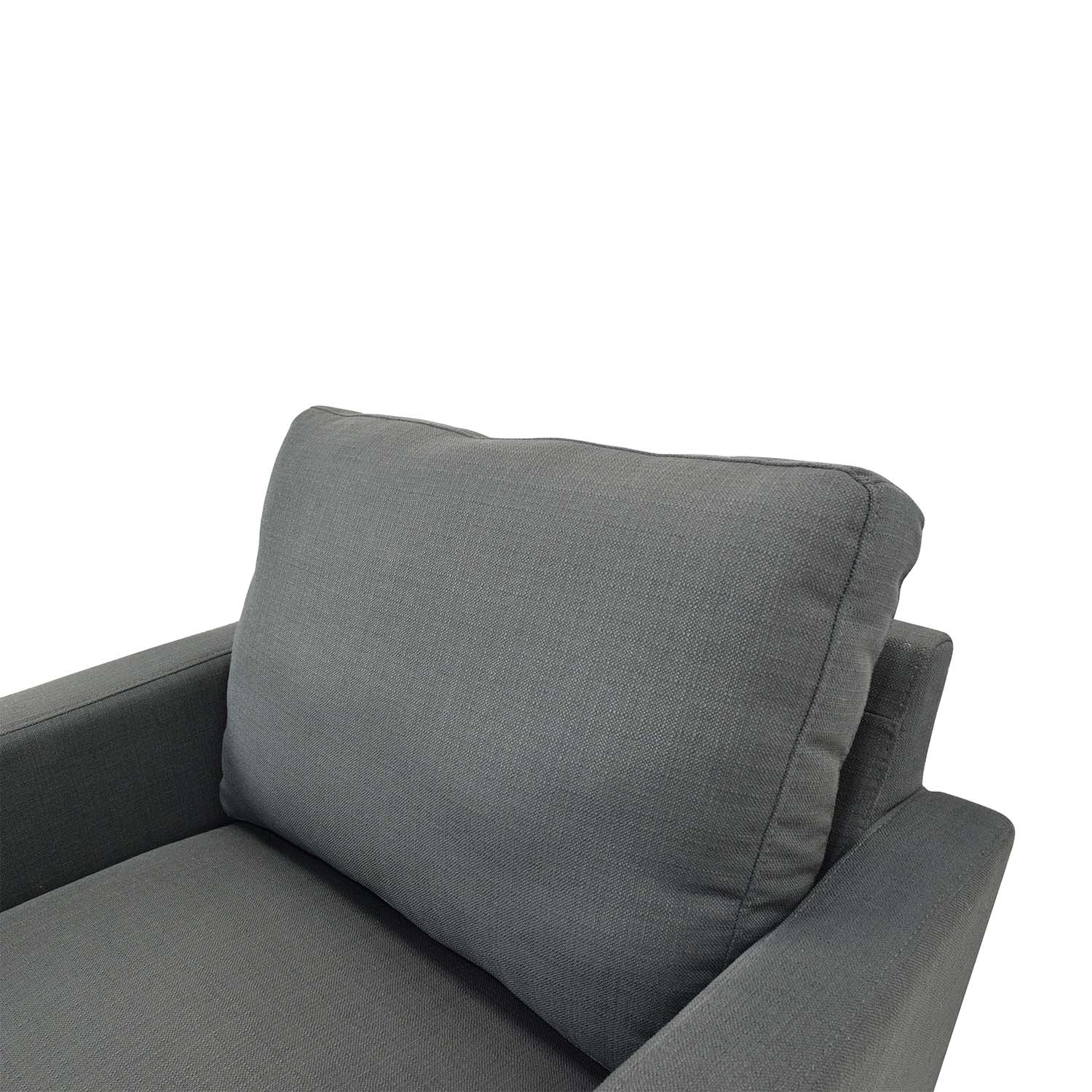 ... Dark Charcoal Blue Chair With Ottoman Blue Gray ...