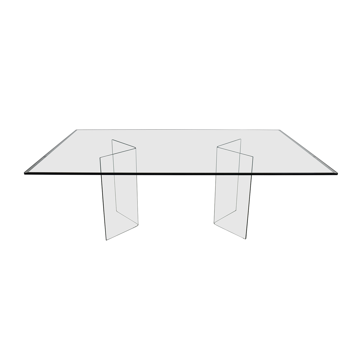 shop Fiam Italia Rectangular Glass Dining Table Fiam Italia Tables