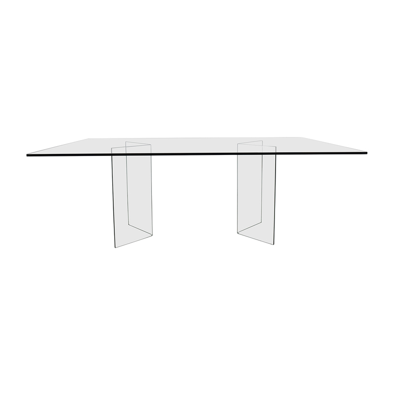 Fiam Italia Fiam Italia Rectangular Glass Dining Table for sale