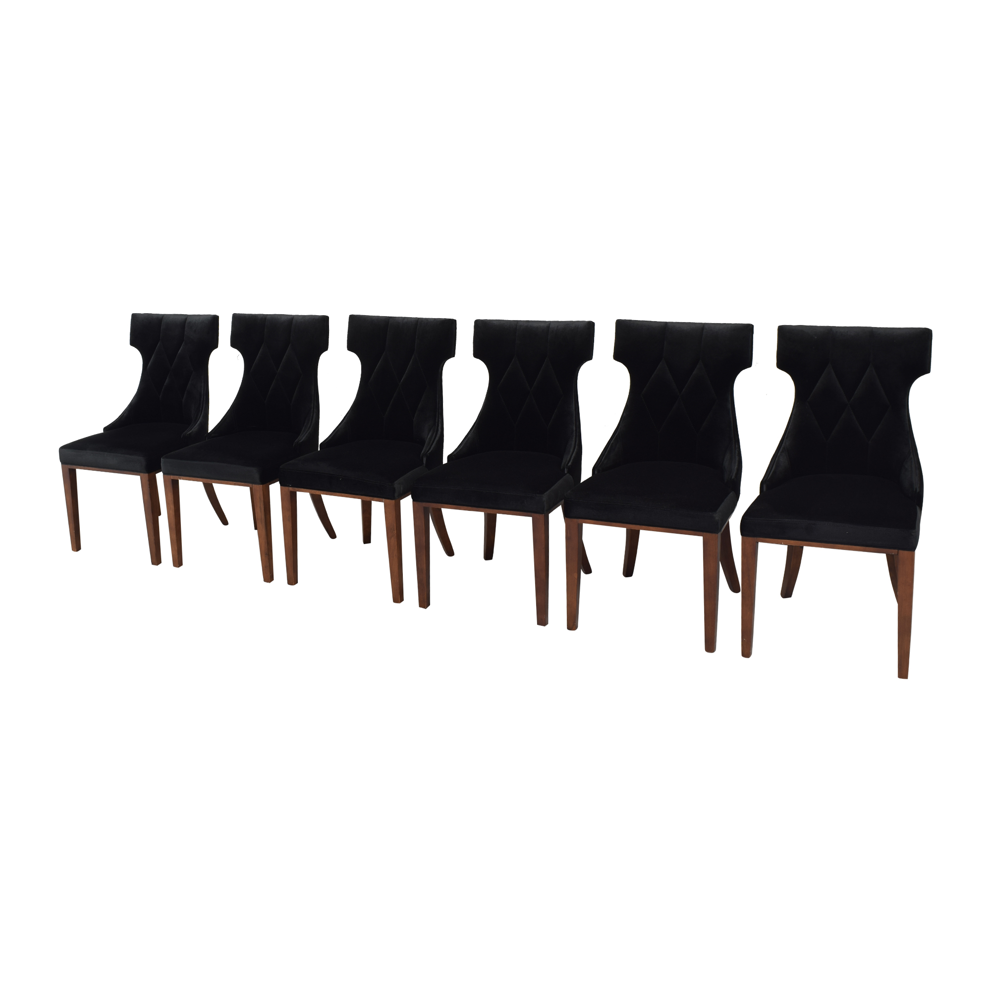 Silver Orchid Silver Orchid Fontan Velvet Dining Chairs black & brown