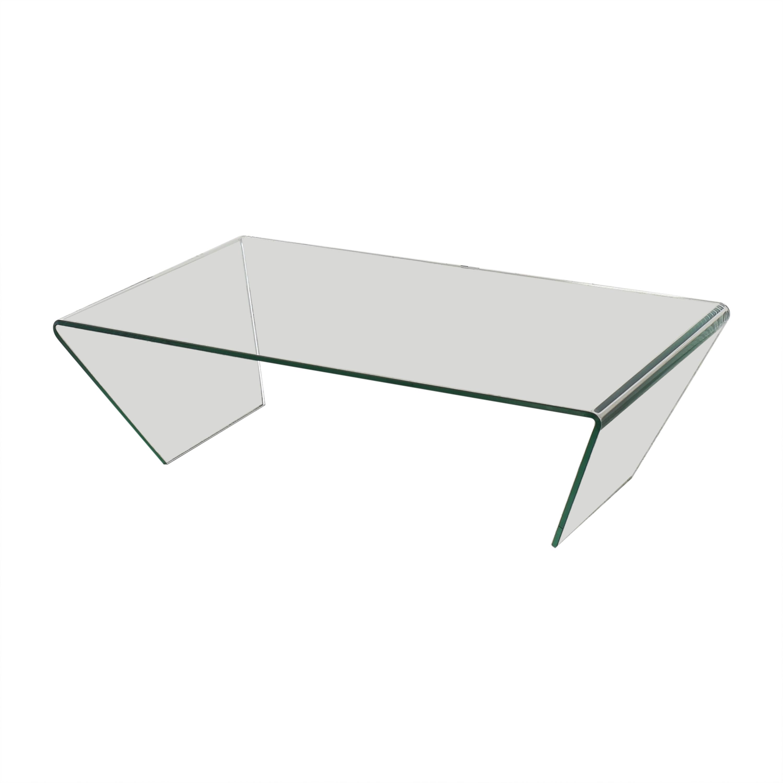 Angled Coffee Glass Table
