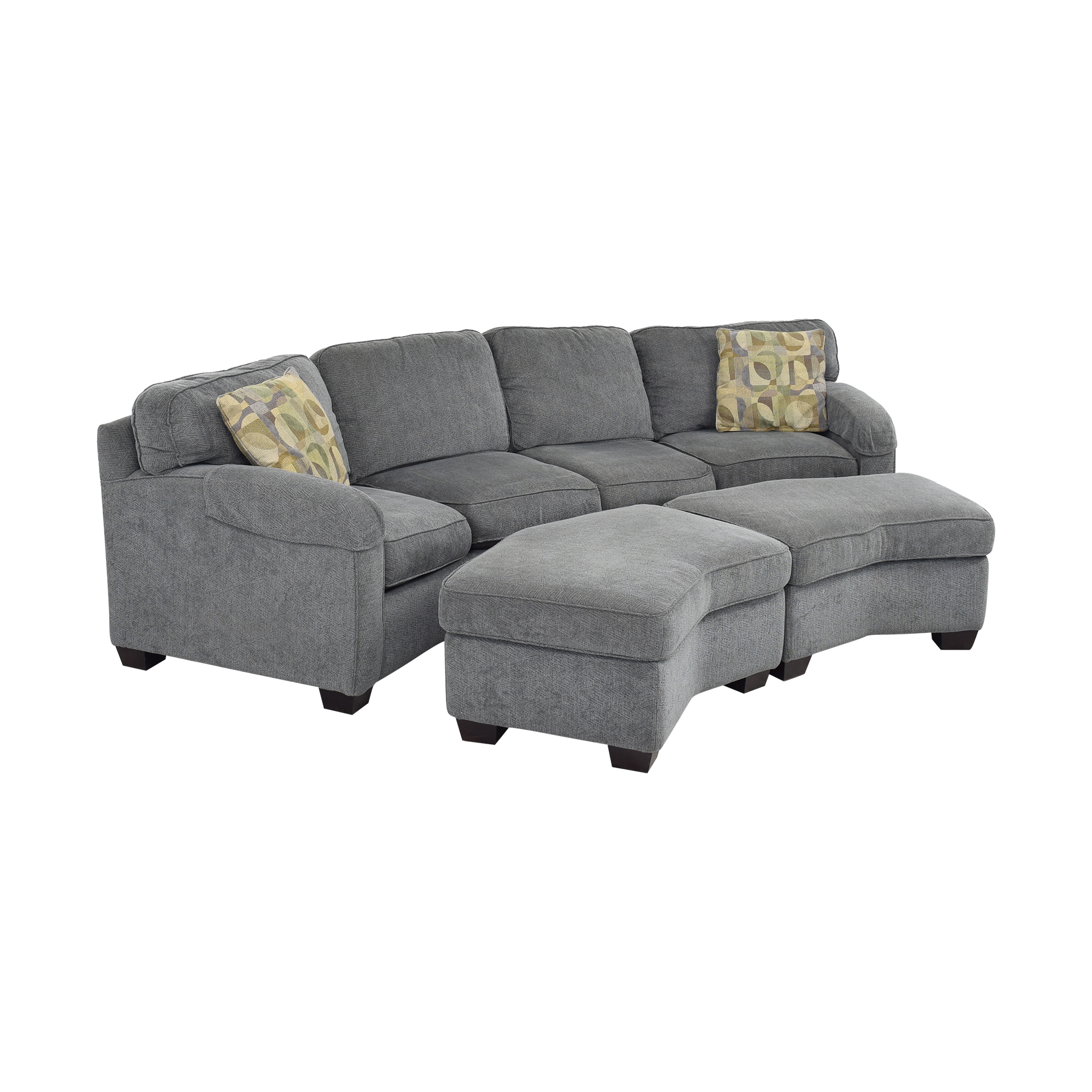 Bassett Furniture Sectional Sofa with Ottomans sale