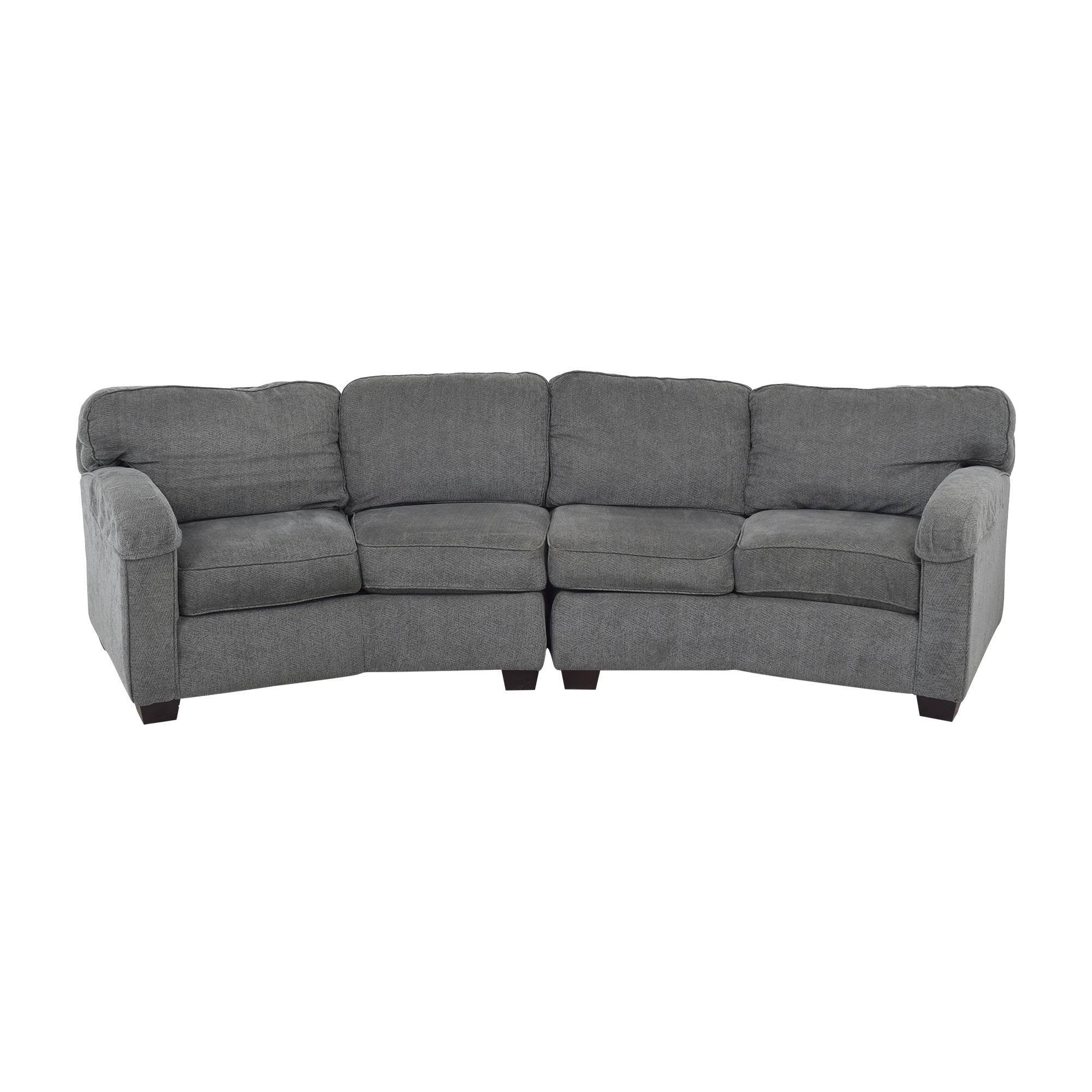 Bassett Furniture Bassett Furniture Sectional Sofa with Ottomans Sofas