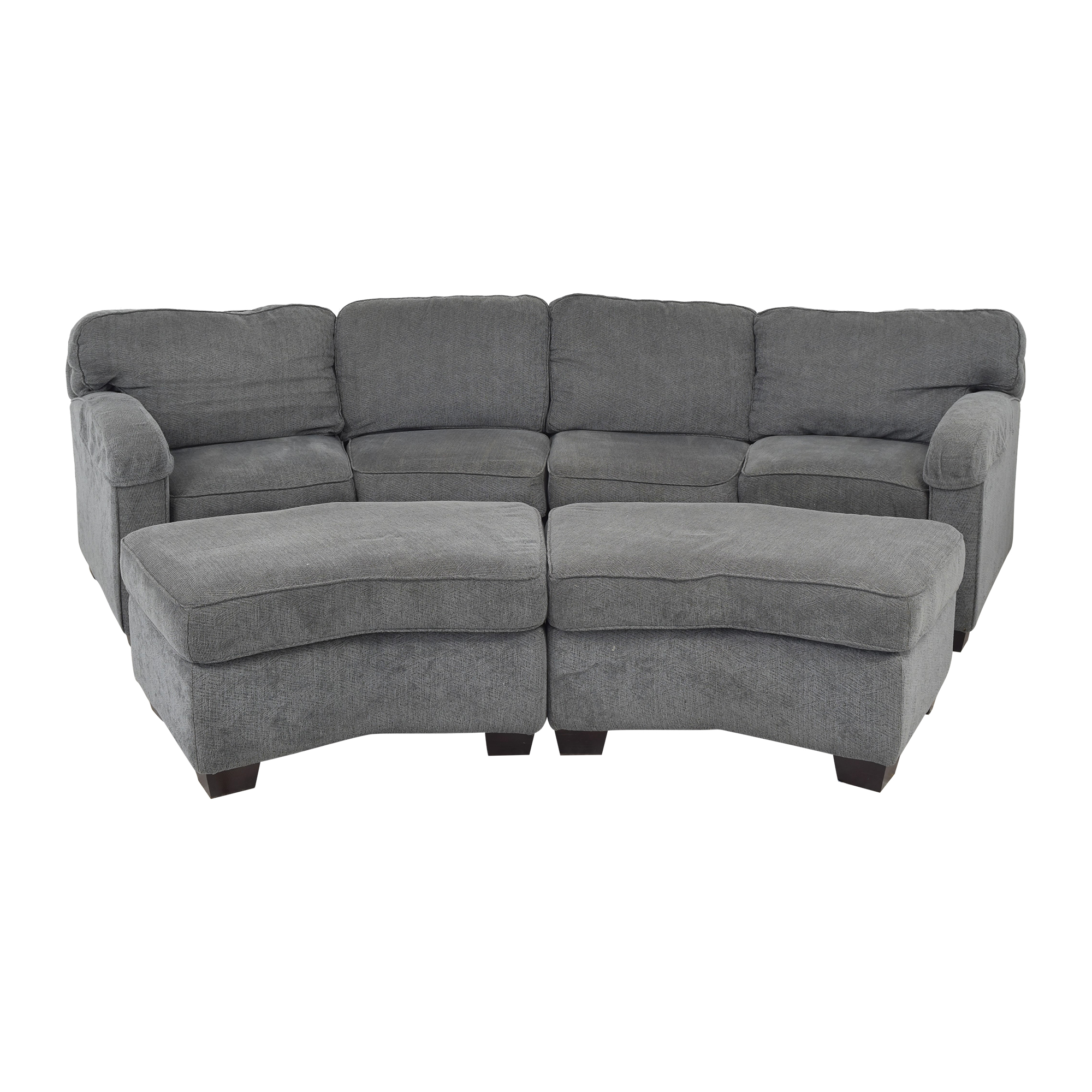 Bassett Furniture Bassett Furniture Sectional Sofa with Ottomans nyc