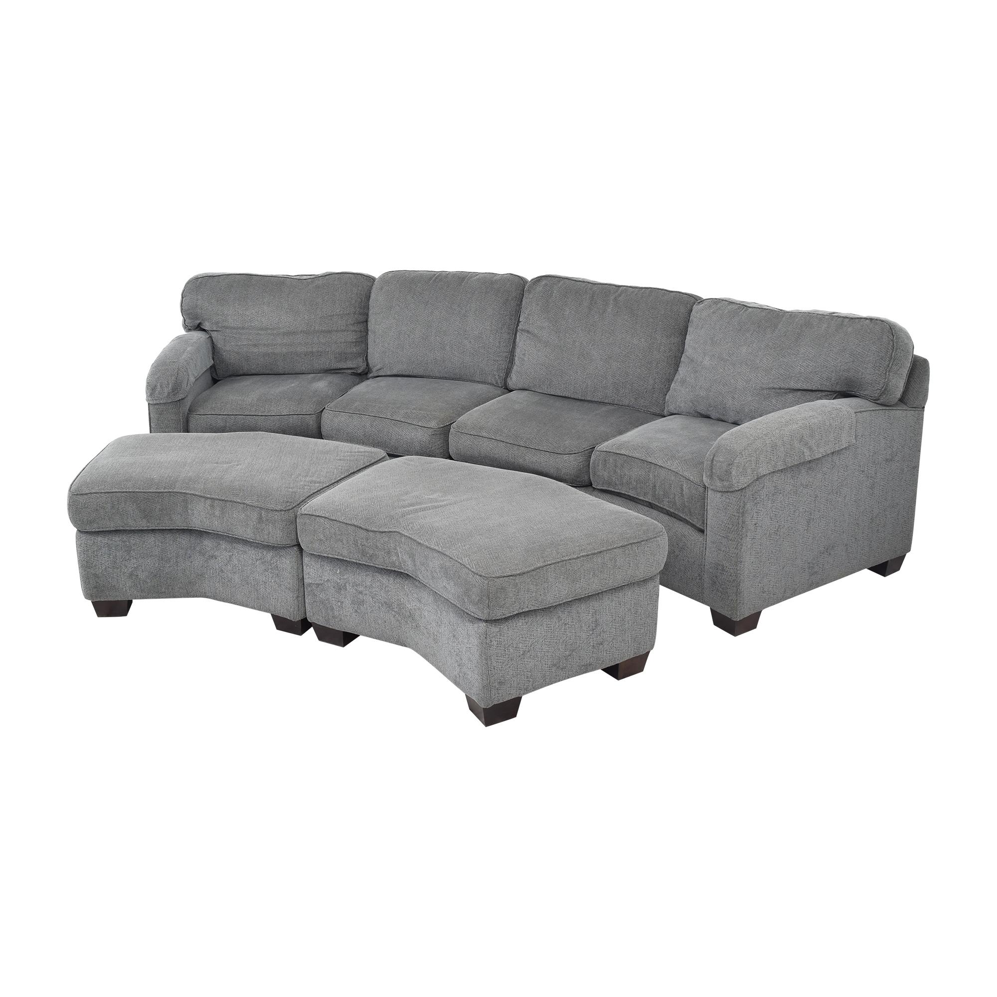 Bassett Furniture Bassett Furniture Sectional Sofa with Ottomans discount