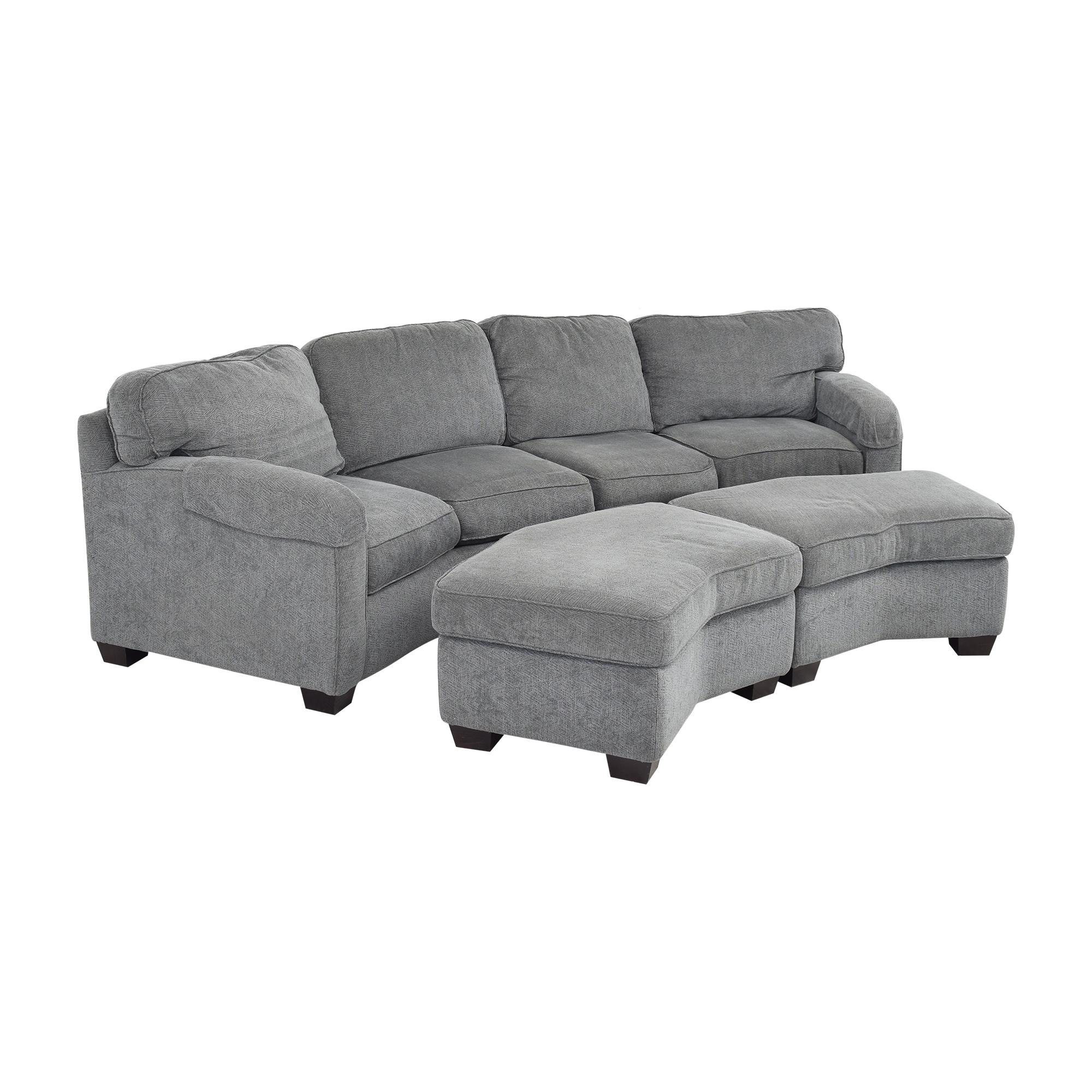 shop Bassett Furniture Sectional Sofa with Ottomans Bassett Furniture