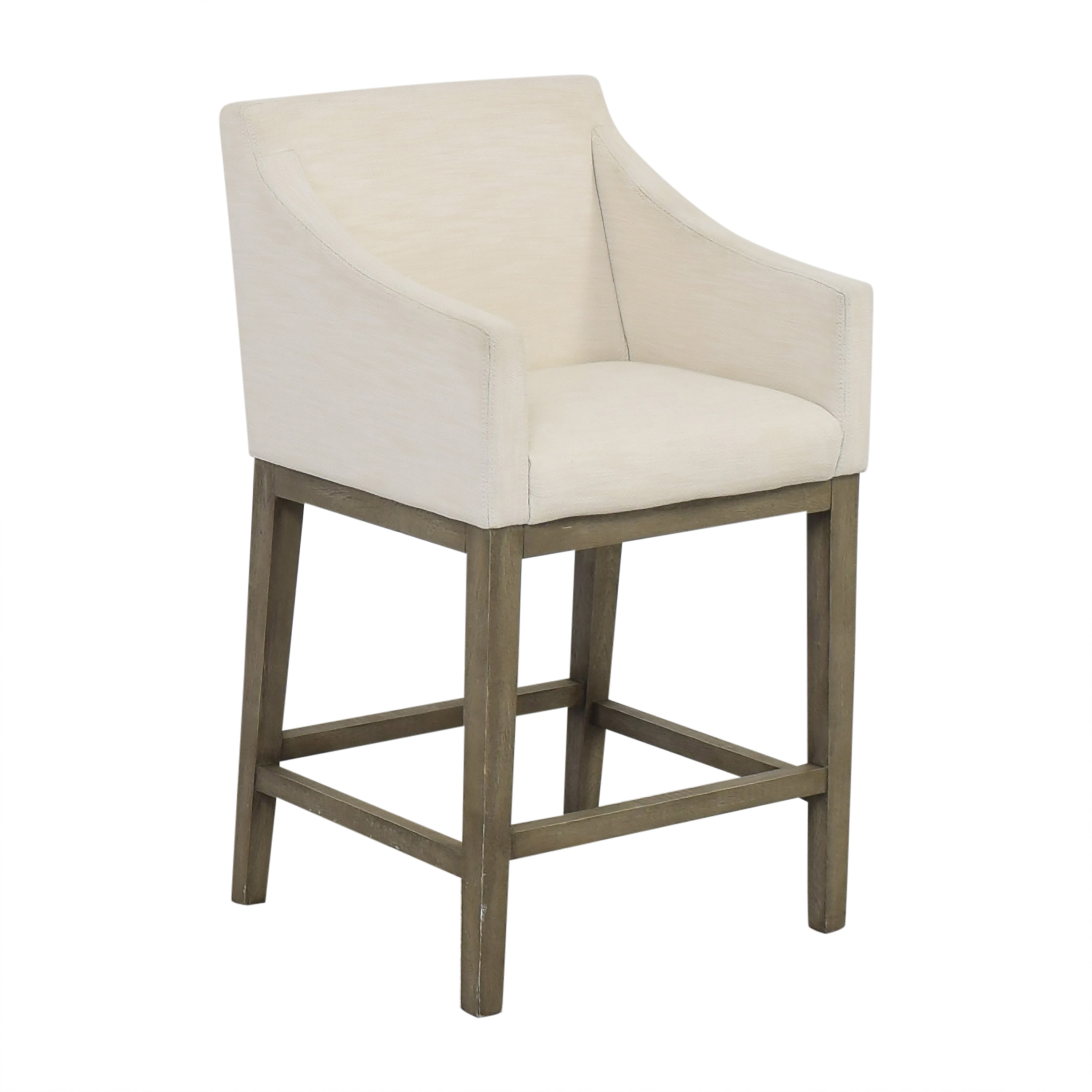 Restoration Hardware Restoration Hardware Morgan Slope Arm Fabric Counter Stool Chairs