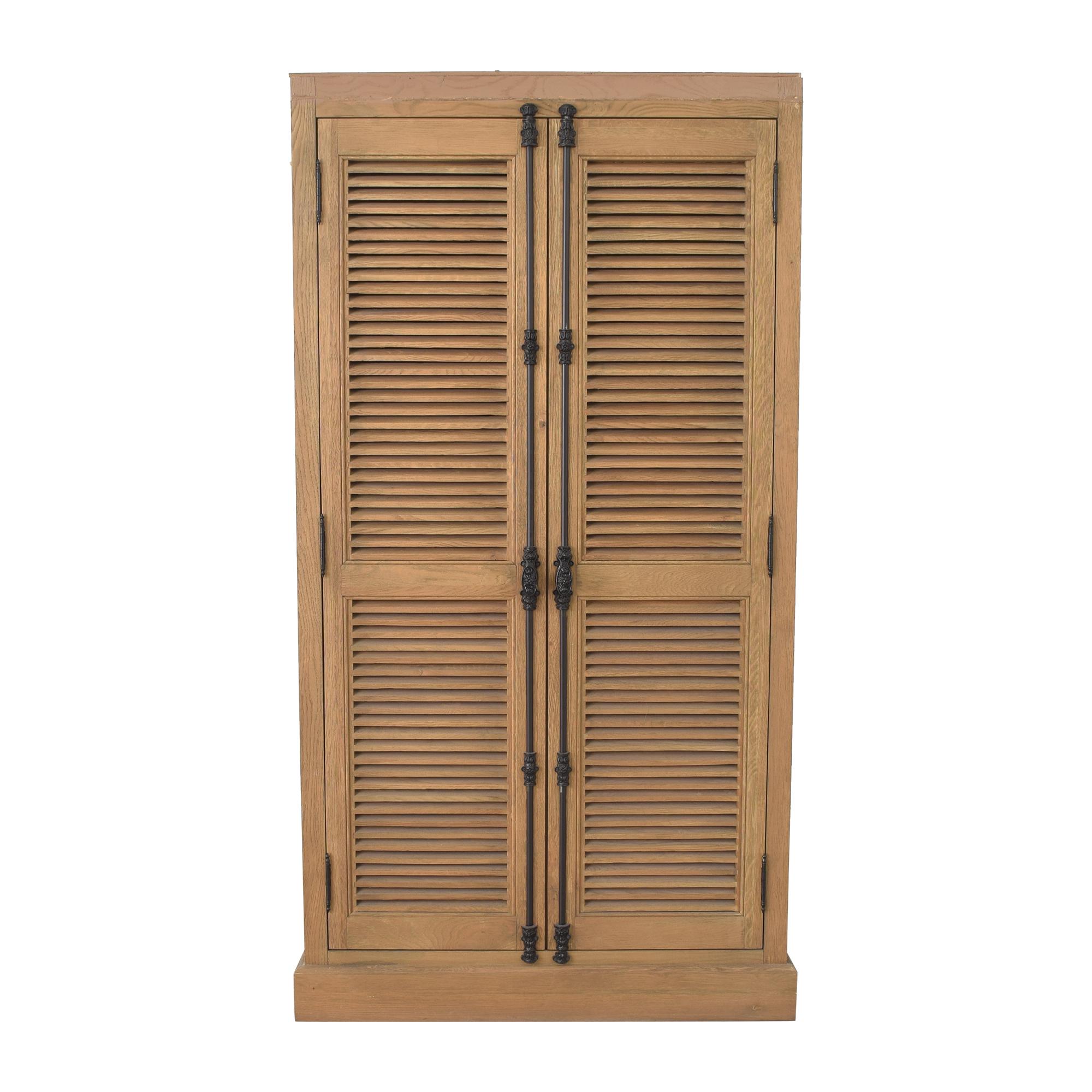 buy Restoration Hardware Shutter Double Door Cabinet Restoration Hardware Storage