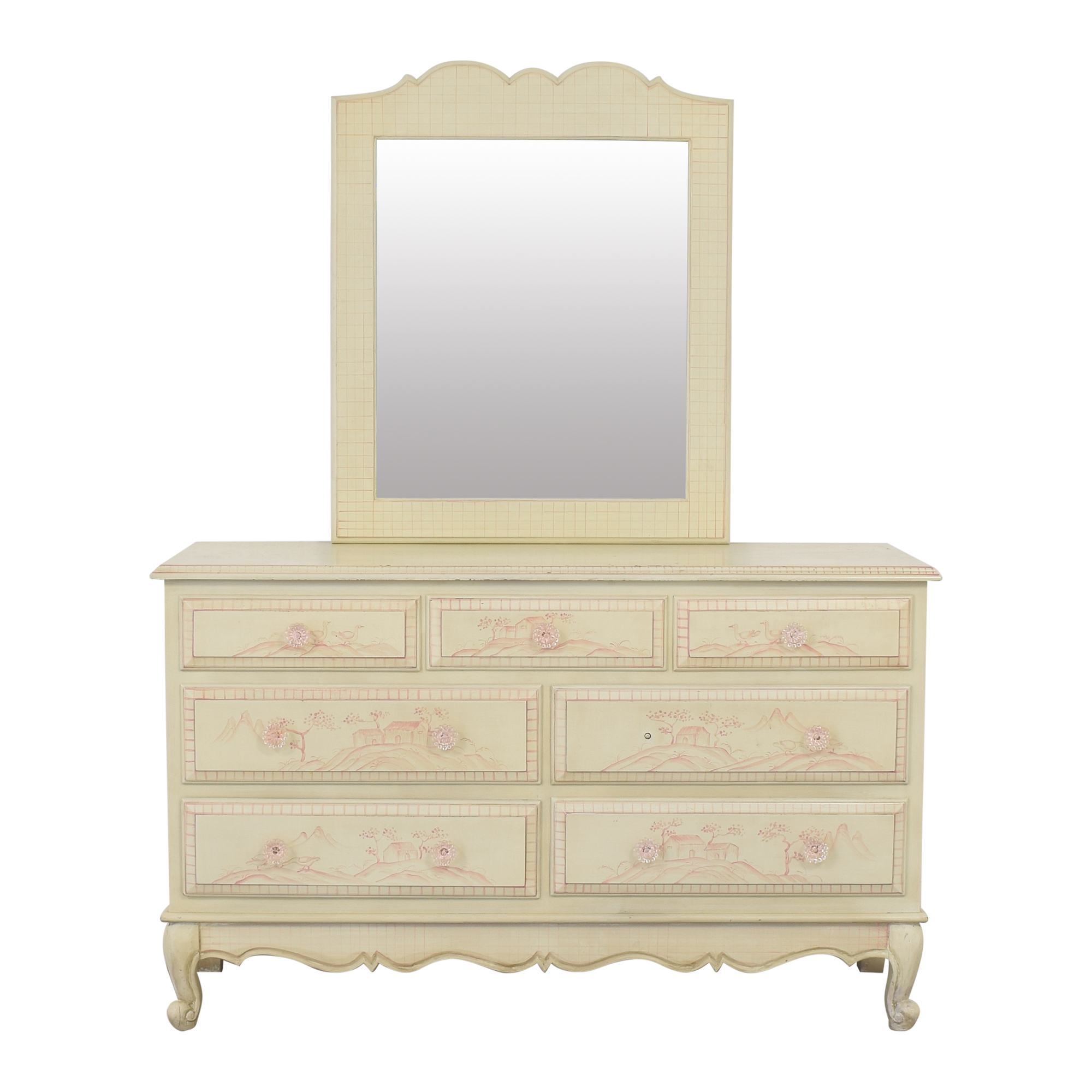 buy  French Style Toile Dresser and Mirror online