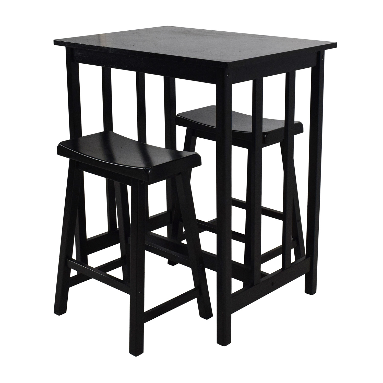 66 off tall kitchen table set tables for Tall dinner table set