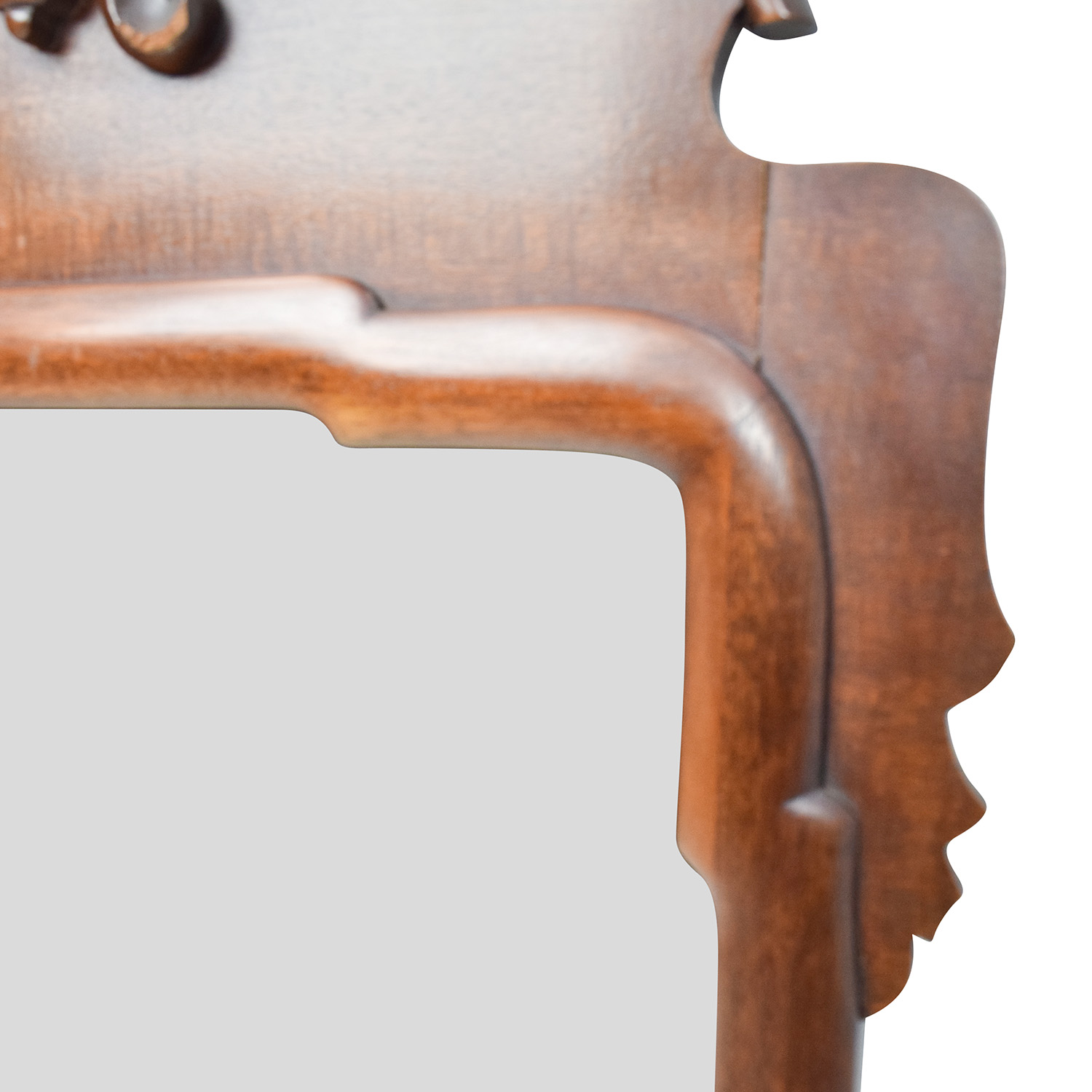 Antique Wood Frame Mirror