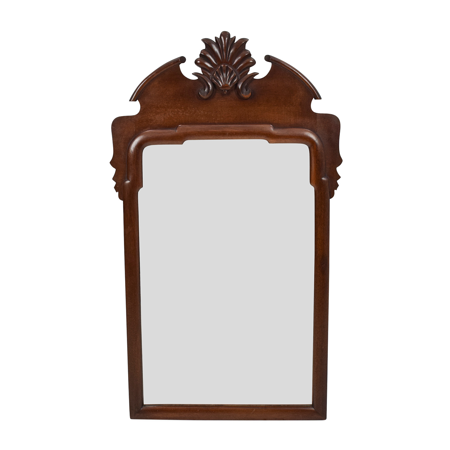 69% OFF - Unknown Brand Antique Wood Frame Mirror / Decor
