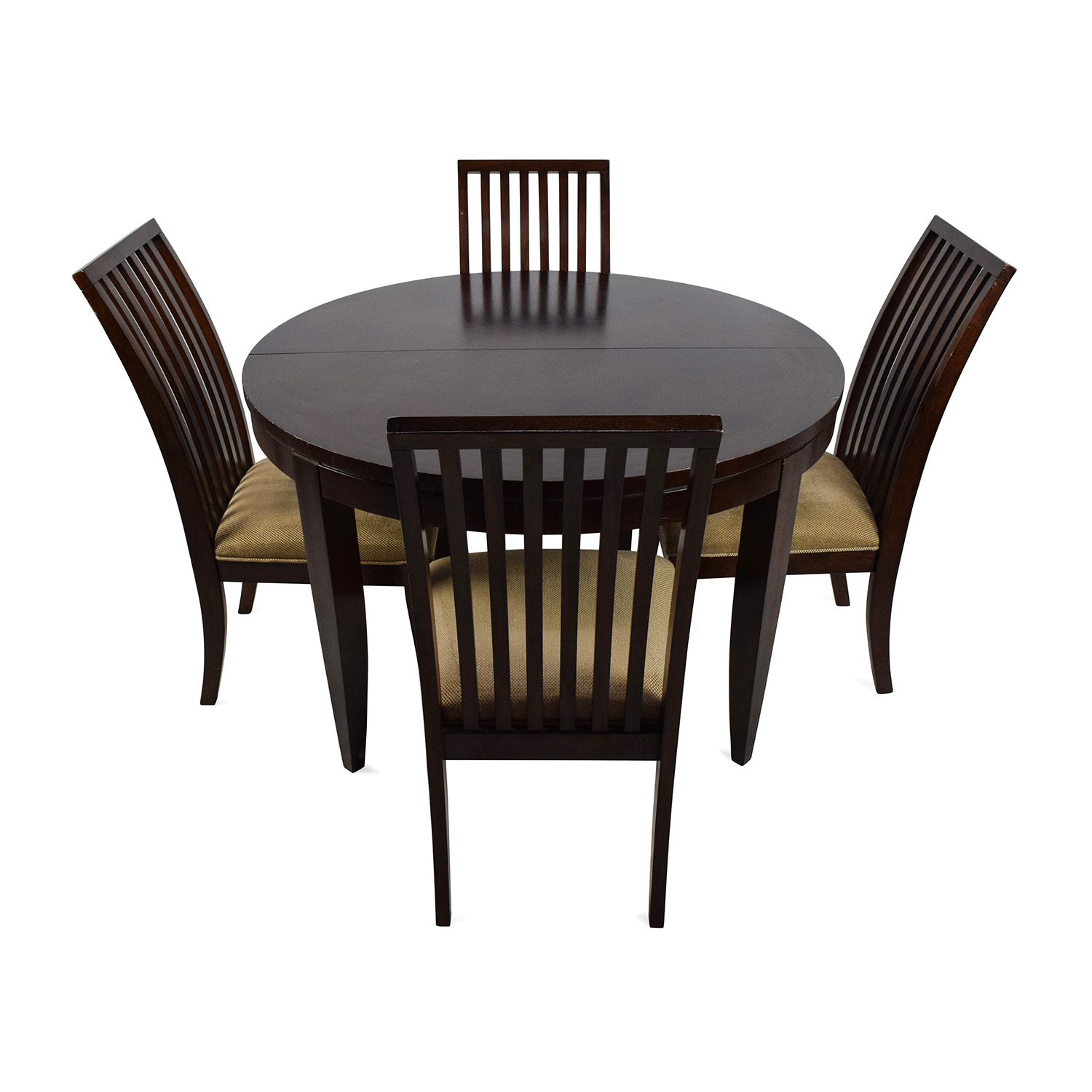 75 off macy 39 s macy 39 s bradford extendable dining table with 4 chairs tables. Black Bedroom Furniture Sets. Home Design Ideas