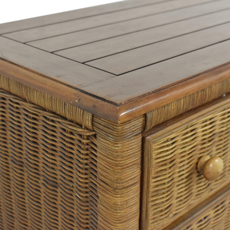 Wicker Six-Drawer Dresser for sale