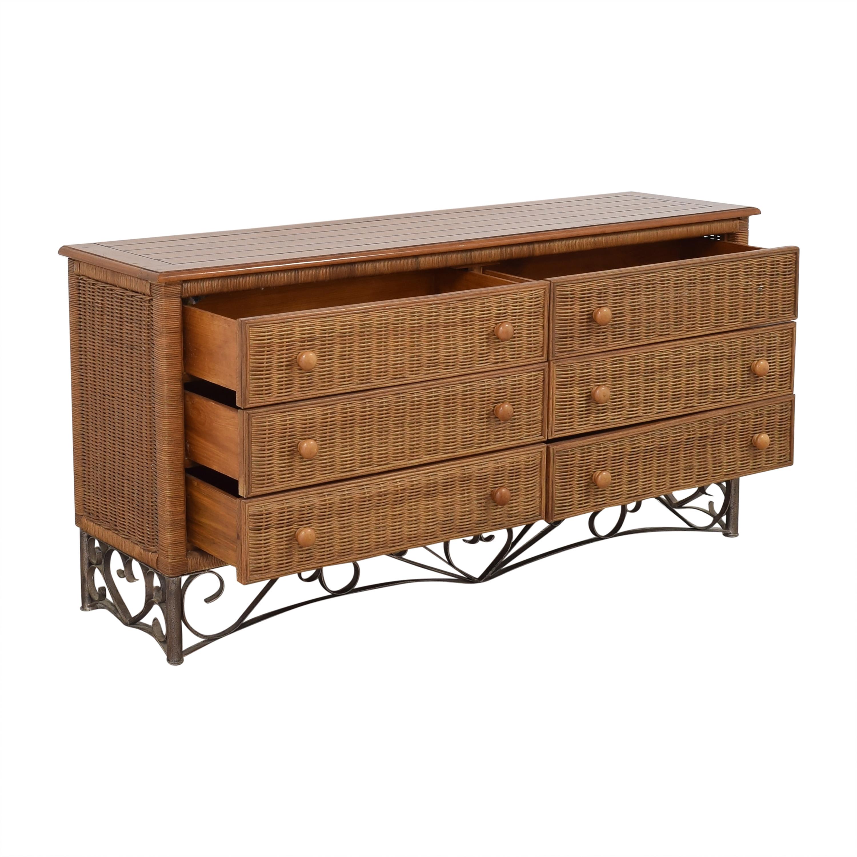 Wicker Six-Drawer Dresser second hand