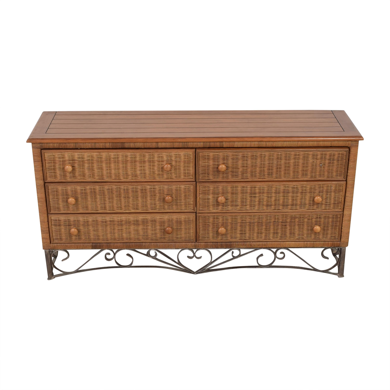 shop Wicker Six-Drawer Dresser  Dressers
