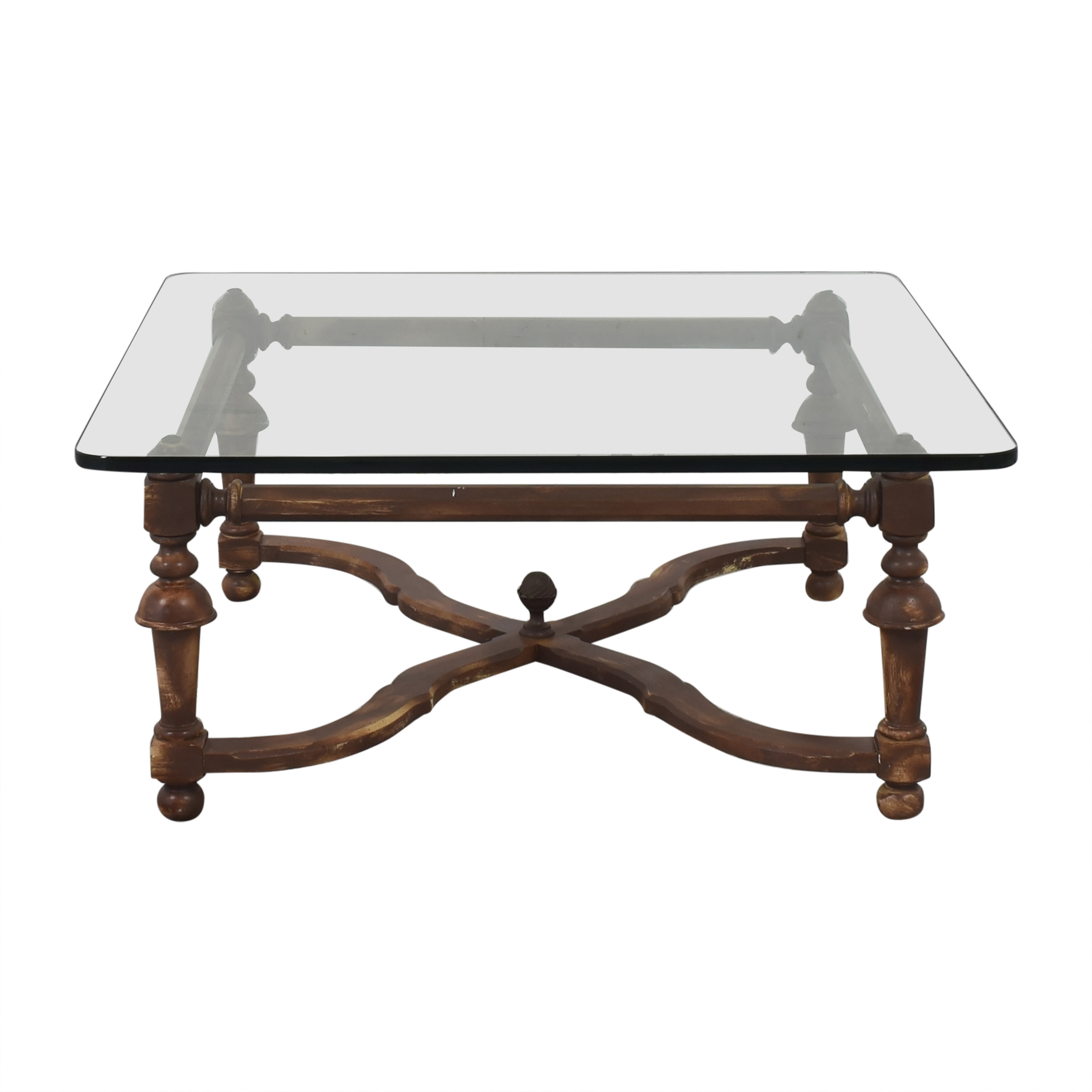 Glass Top Coffee Table used