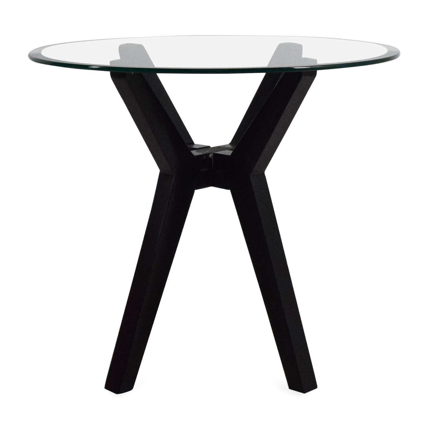 Macys Macys Glass Top End Table for sale