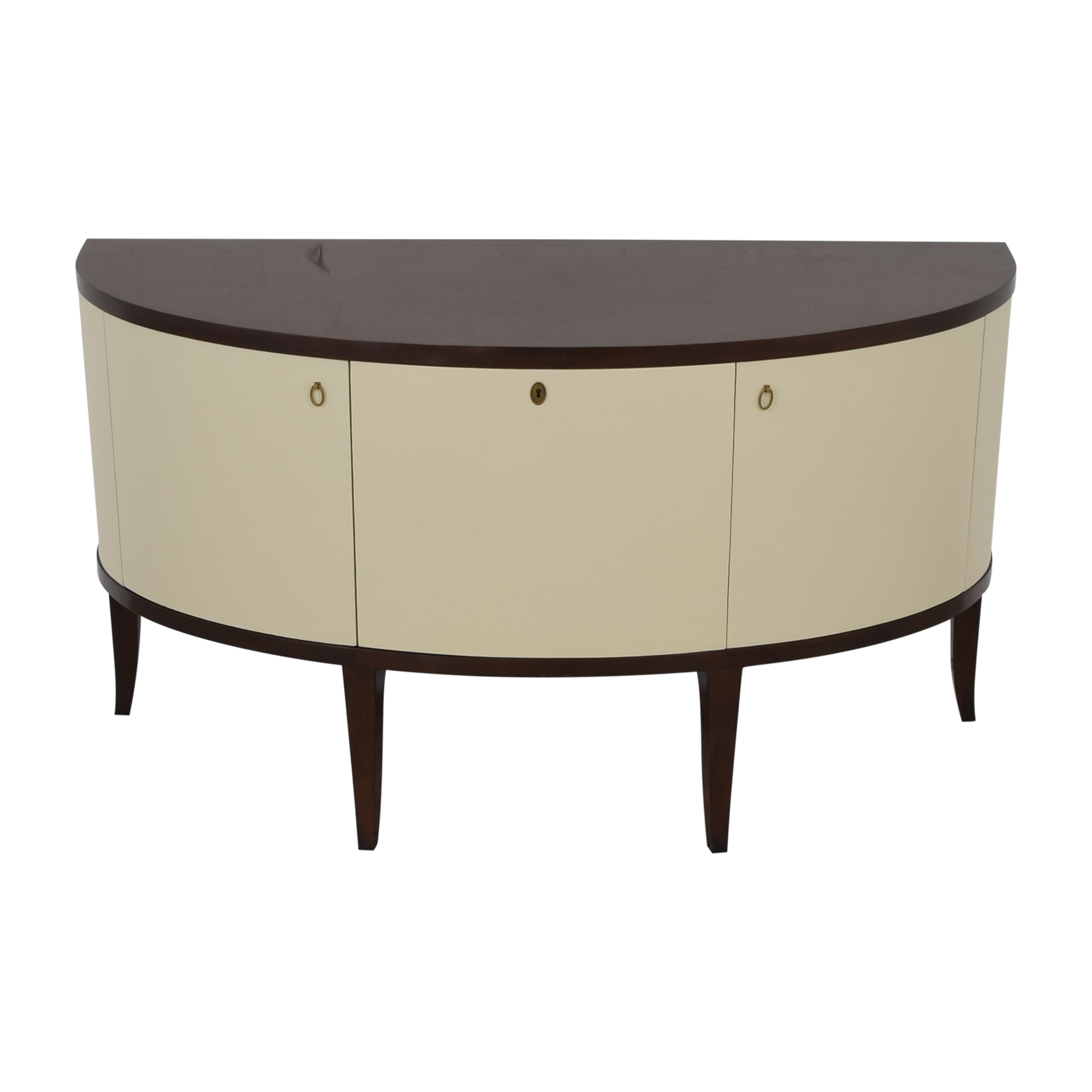 Henredon Furniture Barbara Barry for Henredon Demilune Console Table used