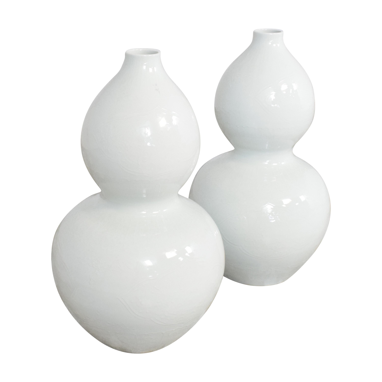 shop Tozai Home Blanc de Chine Embossed Gourd Vase Tozai Home Decorative Accents