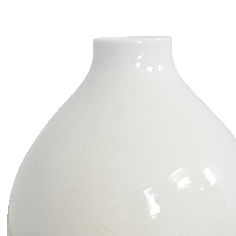 Tozai Home Tozai Home Blanc de Chine Embossed Gourd Vase nj