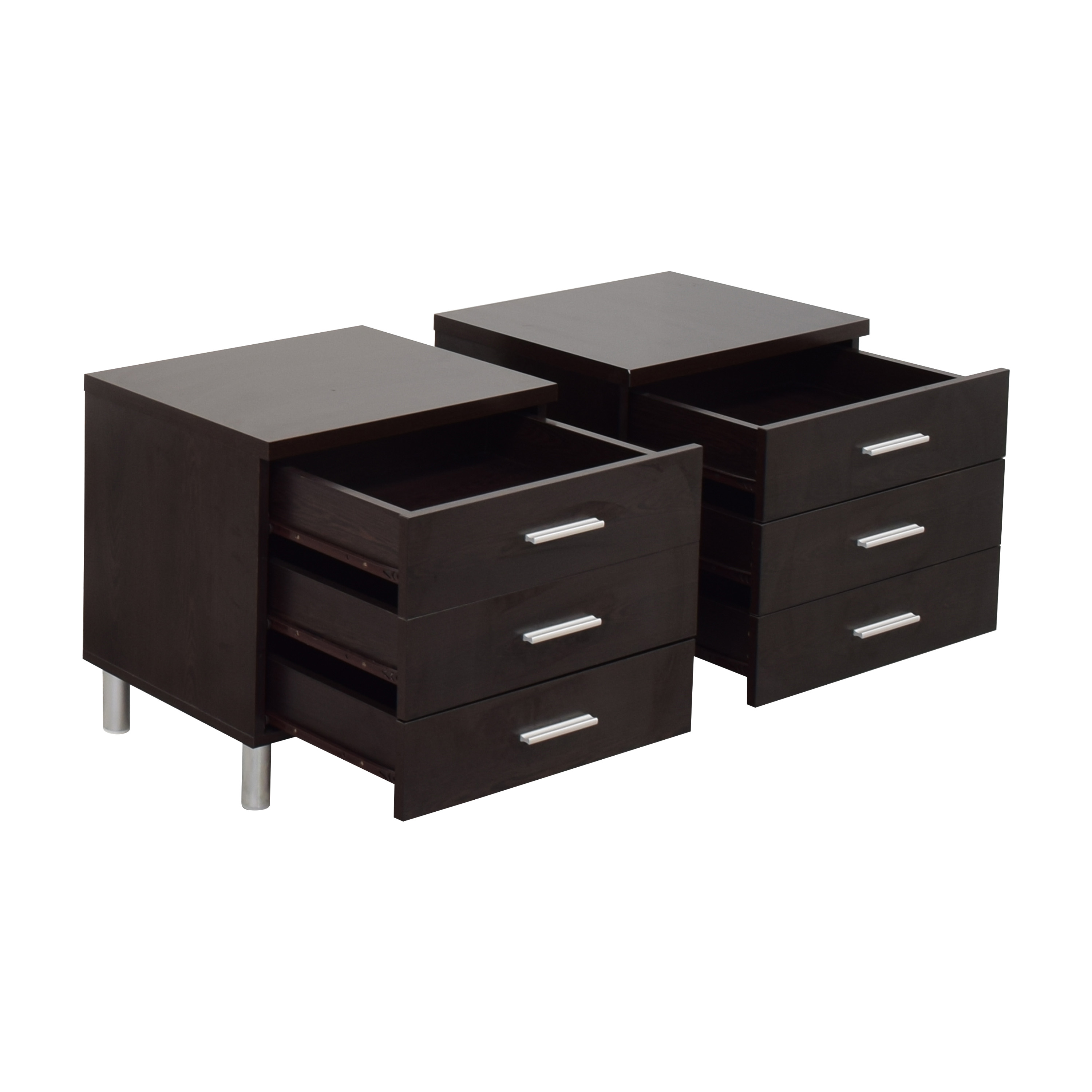 Contemporary Three Drawer Nightstands sale