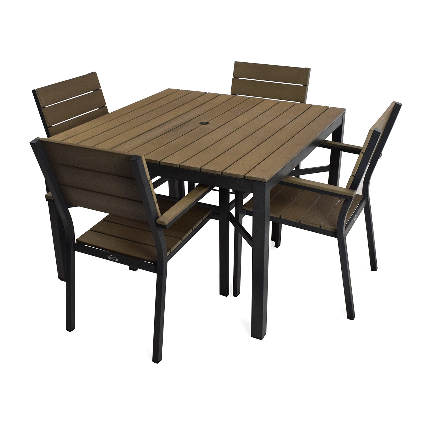 buy Hampton Bay Northridge 5-Piece Patio Dining Set Home Depot