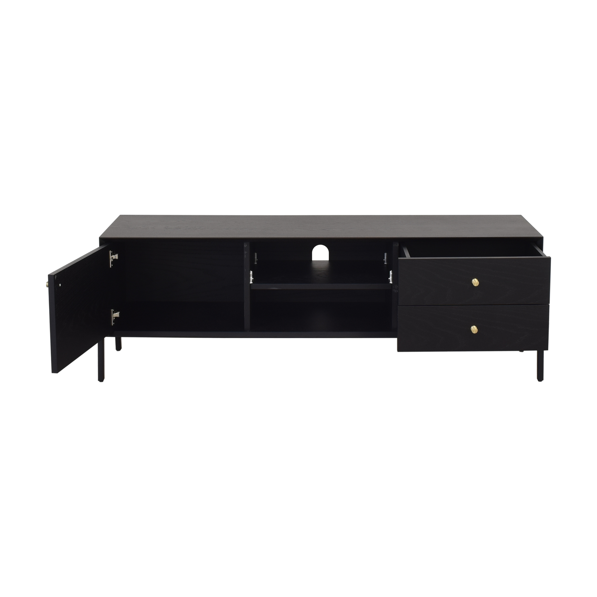 Media Cabinet with Two Drawers Storage