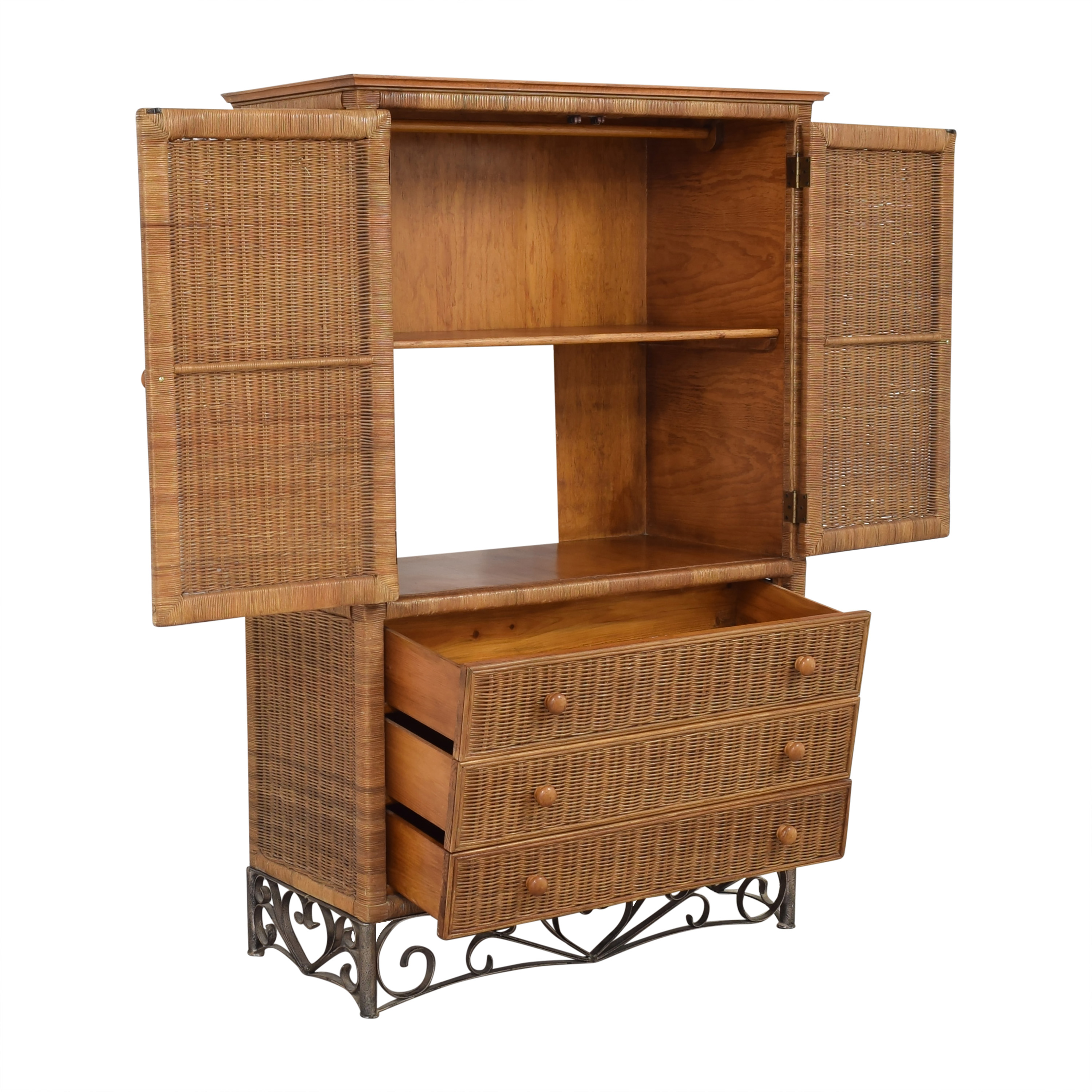 Wicker Armoire discount