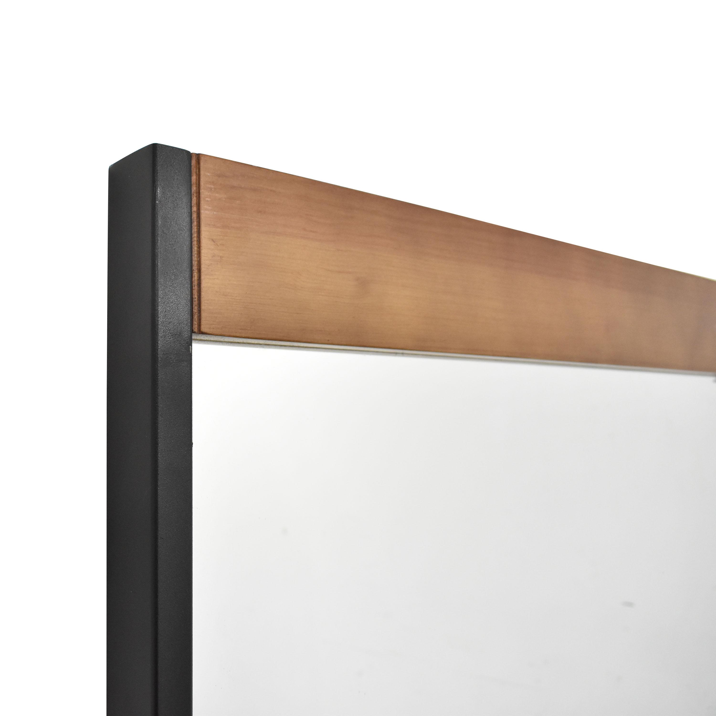 Wood Accented Floor Mirror ct