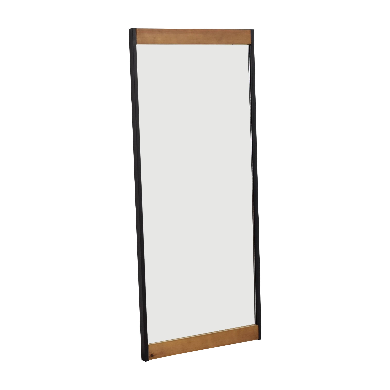 Wood Accented Floor Mirror ma