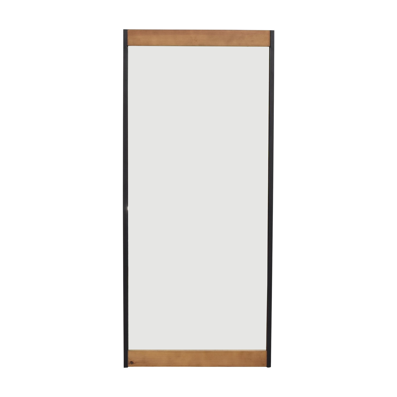 Wood Accented Floor Mirror / Decor