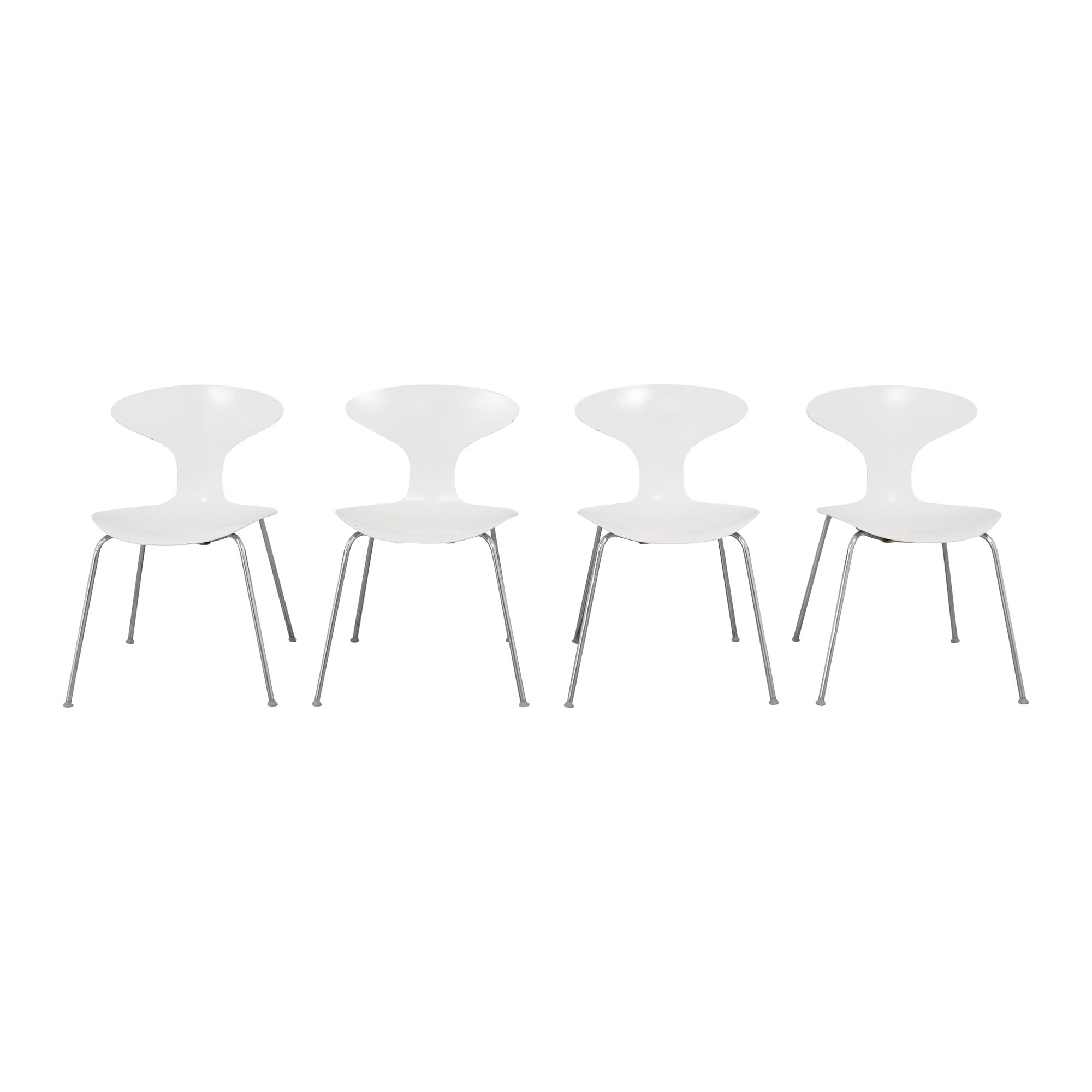 Bernhardt Bernhardt Orbit Stacking Chairs white