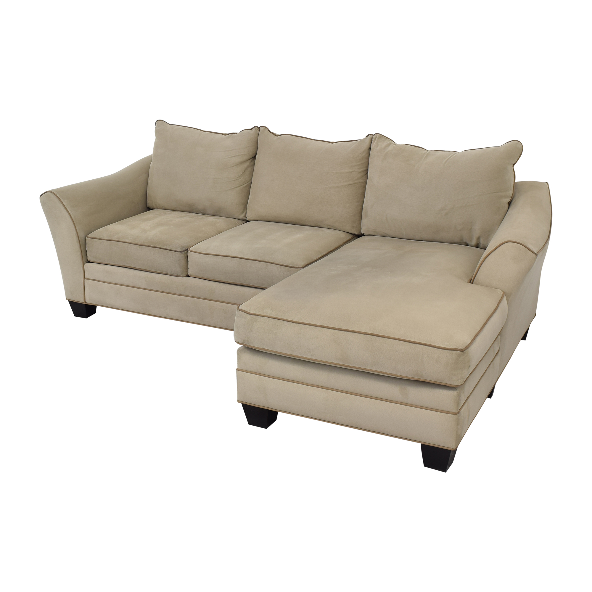Raymour & Flanigan Raymour & Flanigan Chaise Sectional Sofa pa