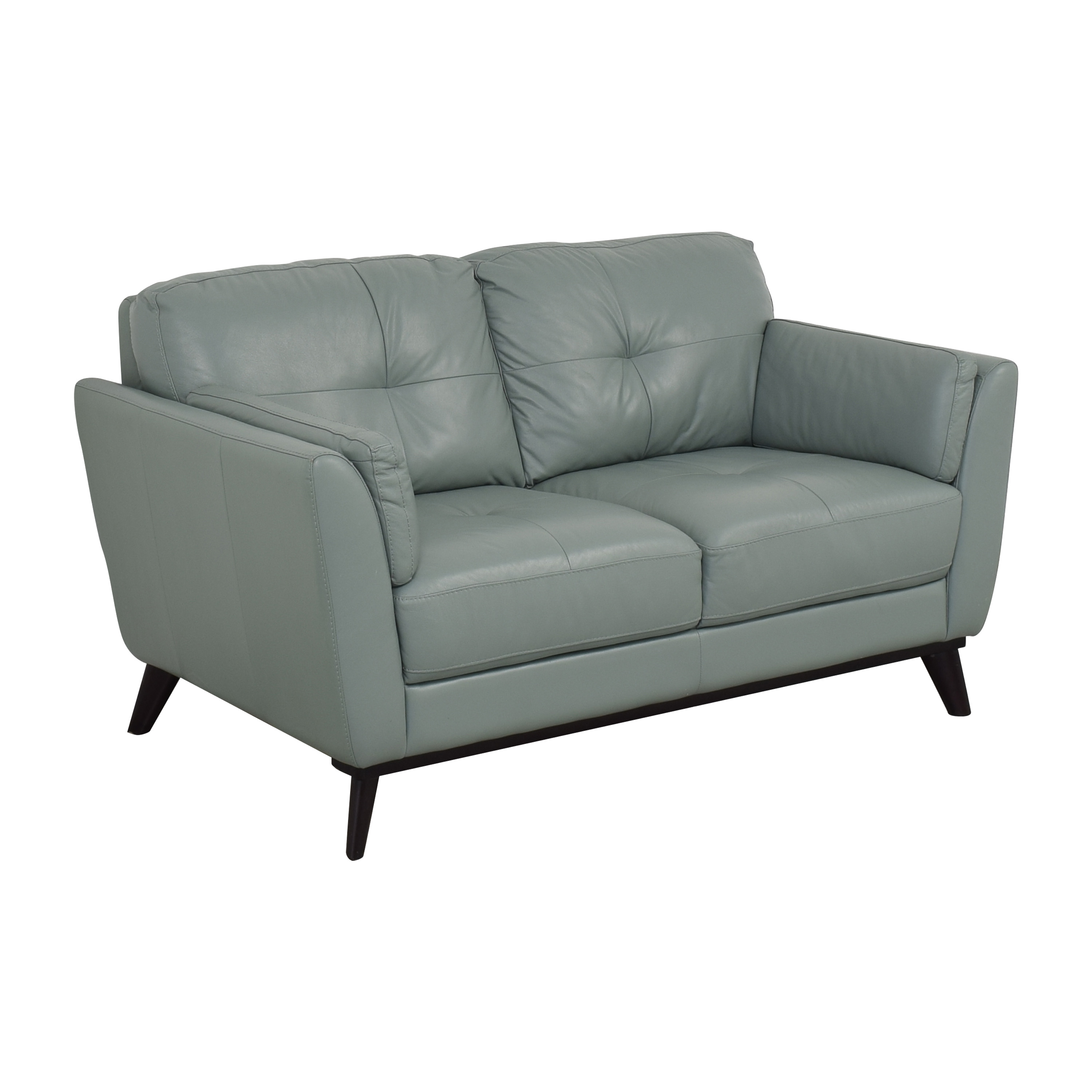 Rooms To Go Sofia Vergara Collection Gabriele Loveseat teal