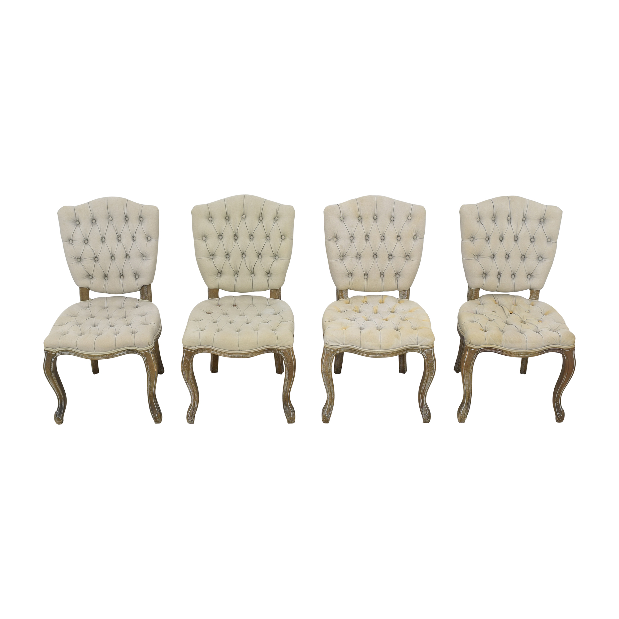 Arhaus Arhaus Country French Tufted Dining Chairs discount