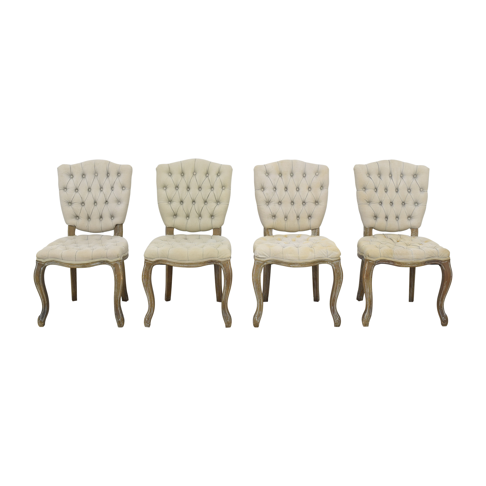 Arhaus Arhaus Country French Tufted Dining Chairs used
