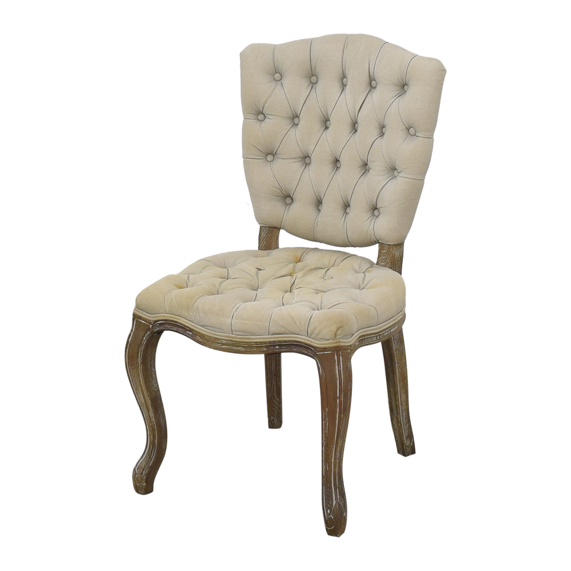 buy Arhaus Country French Tufted Dining Chairs Arhaus Dining Chairs