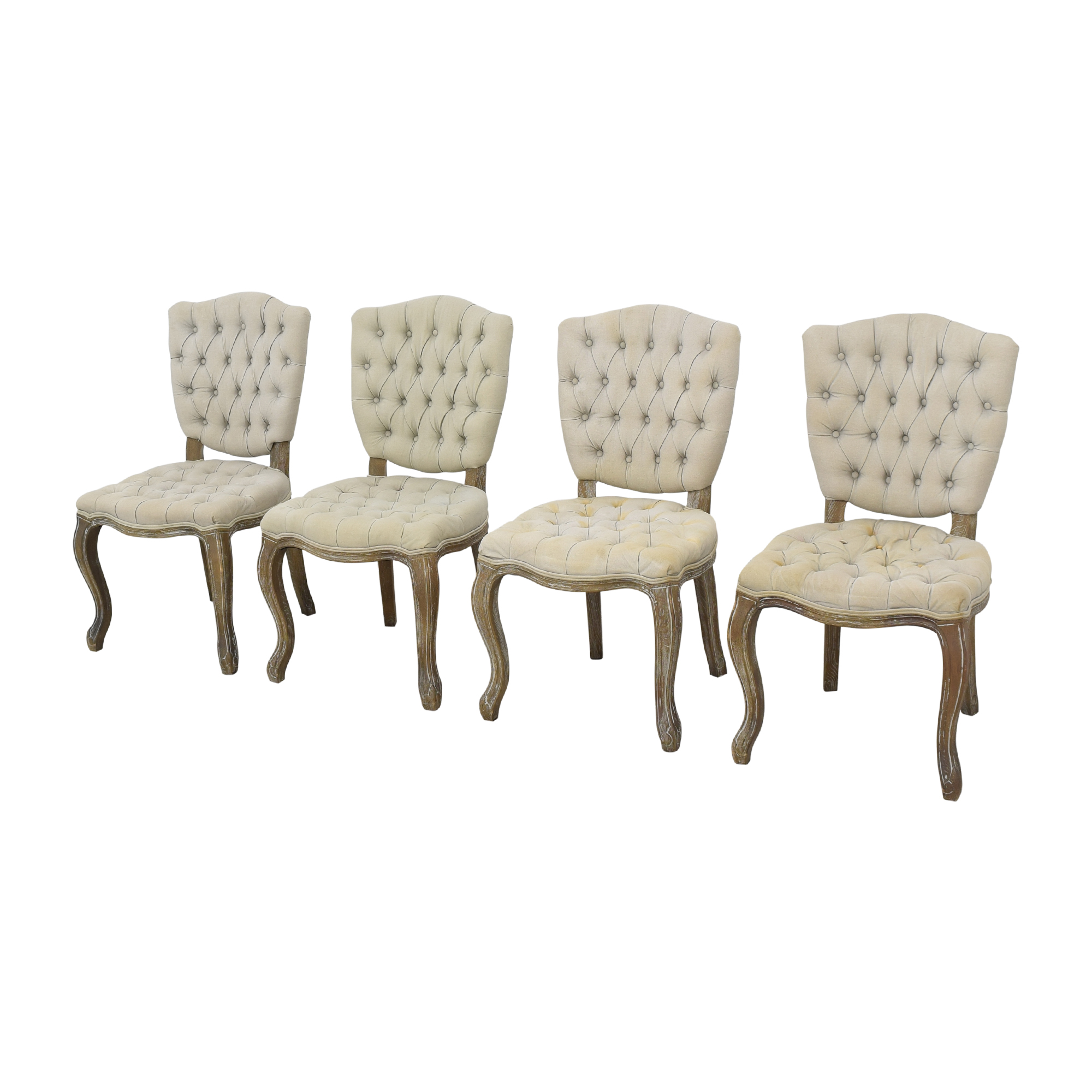 shop Arhaus Country French Tufted Dining Chairs Arhaus