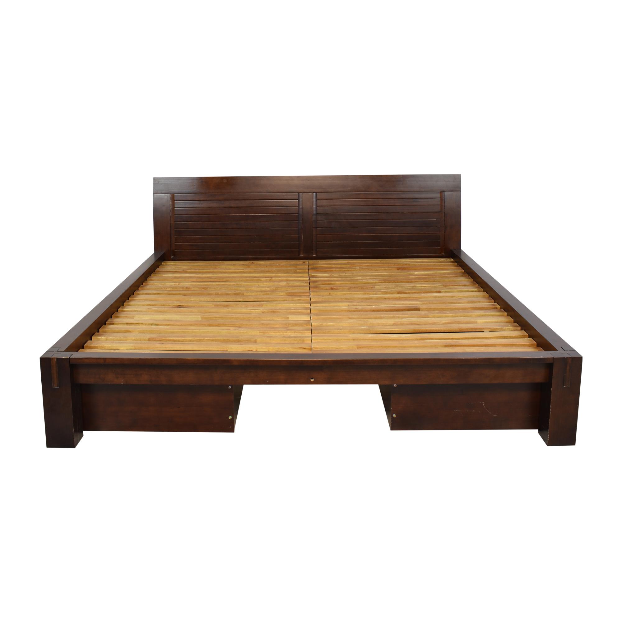 Tatami Japanese King Platform Bed with Storage Drawers