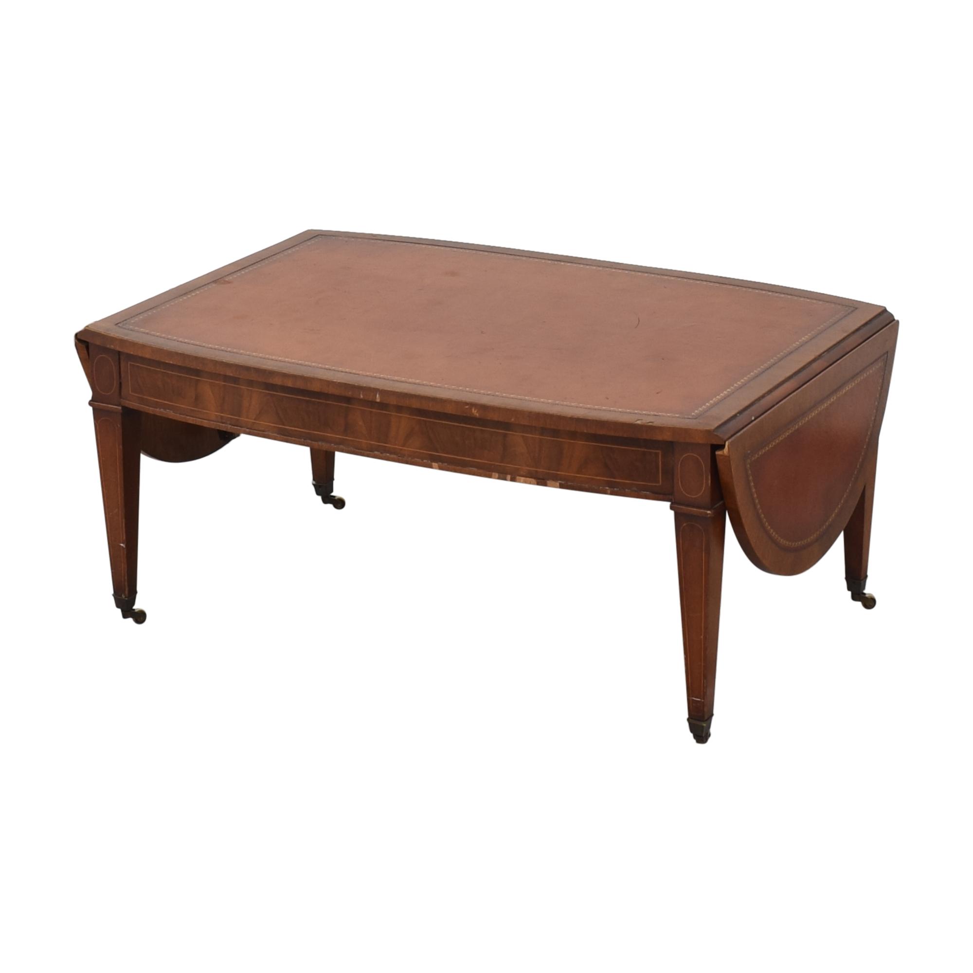 Henredon Furniture Henredon Side Extension Coffee Table brown