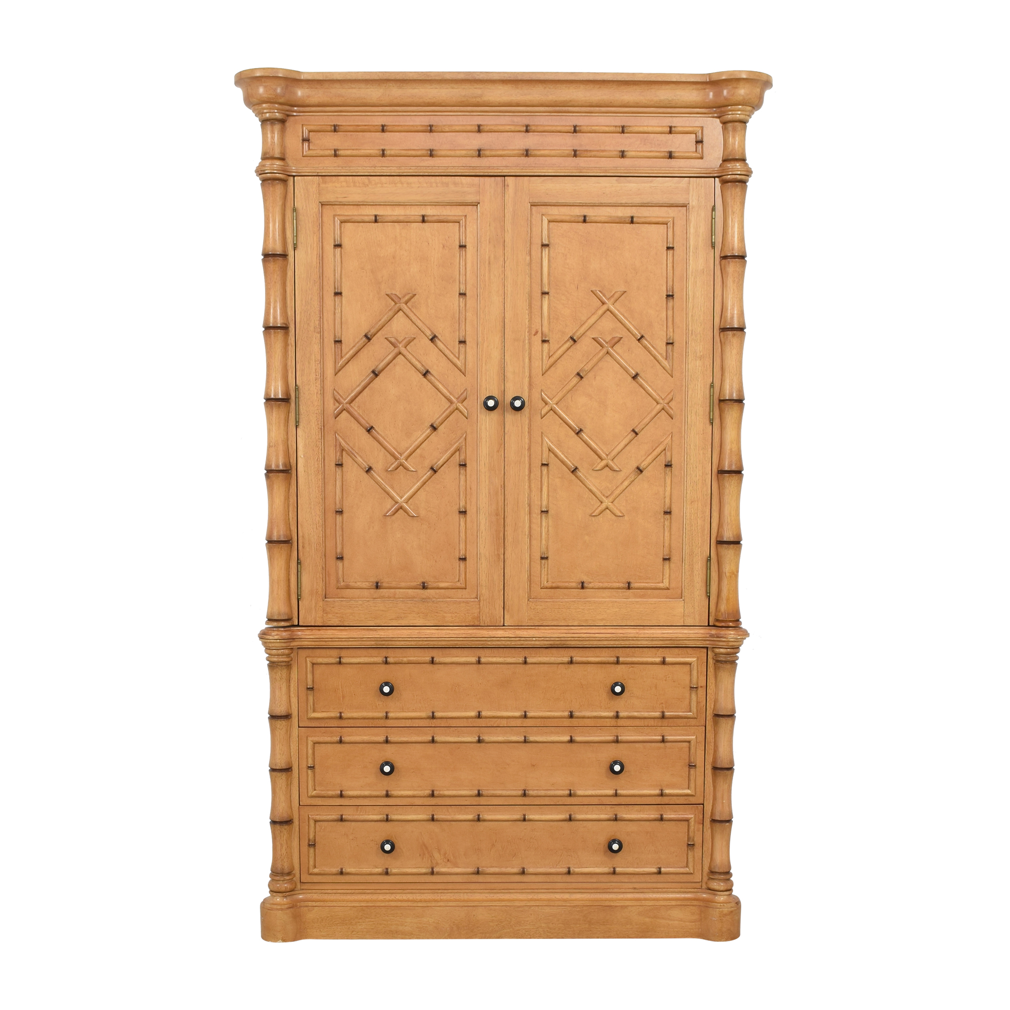 buy Martha Stewart Signature with Bernhardt Bamboo Style Armoire Bernhardt Storage