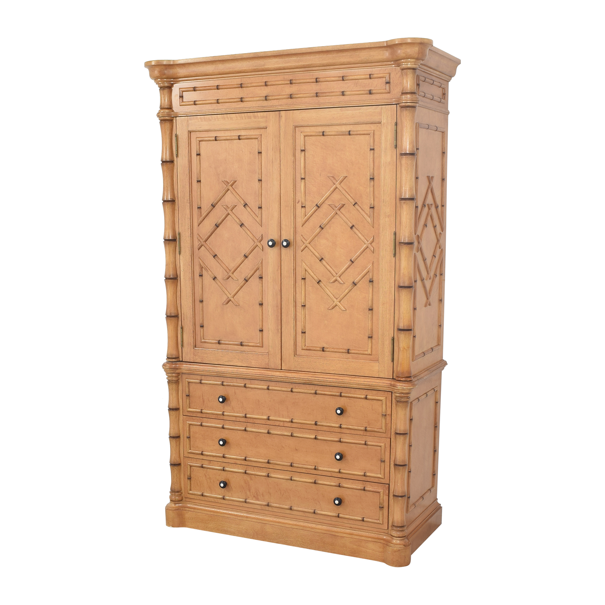 buy Martha Stewart Signature with Bernhardt Bamboo Style Armoire Bernhardt