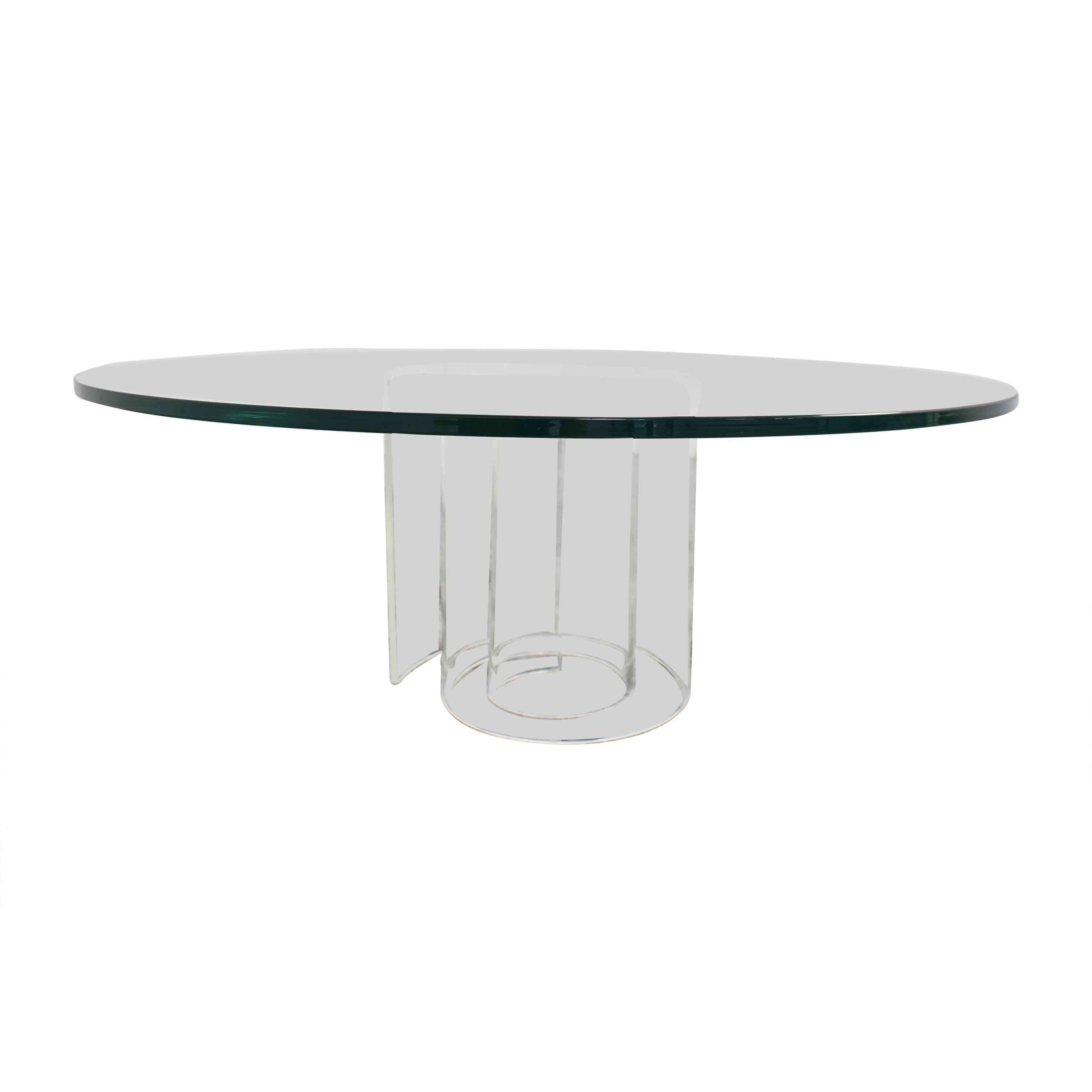 Crate & Barrel Crate & Barrel Glass Coffee Table used