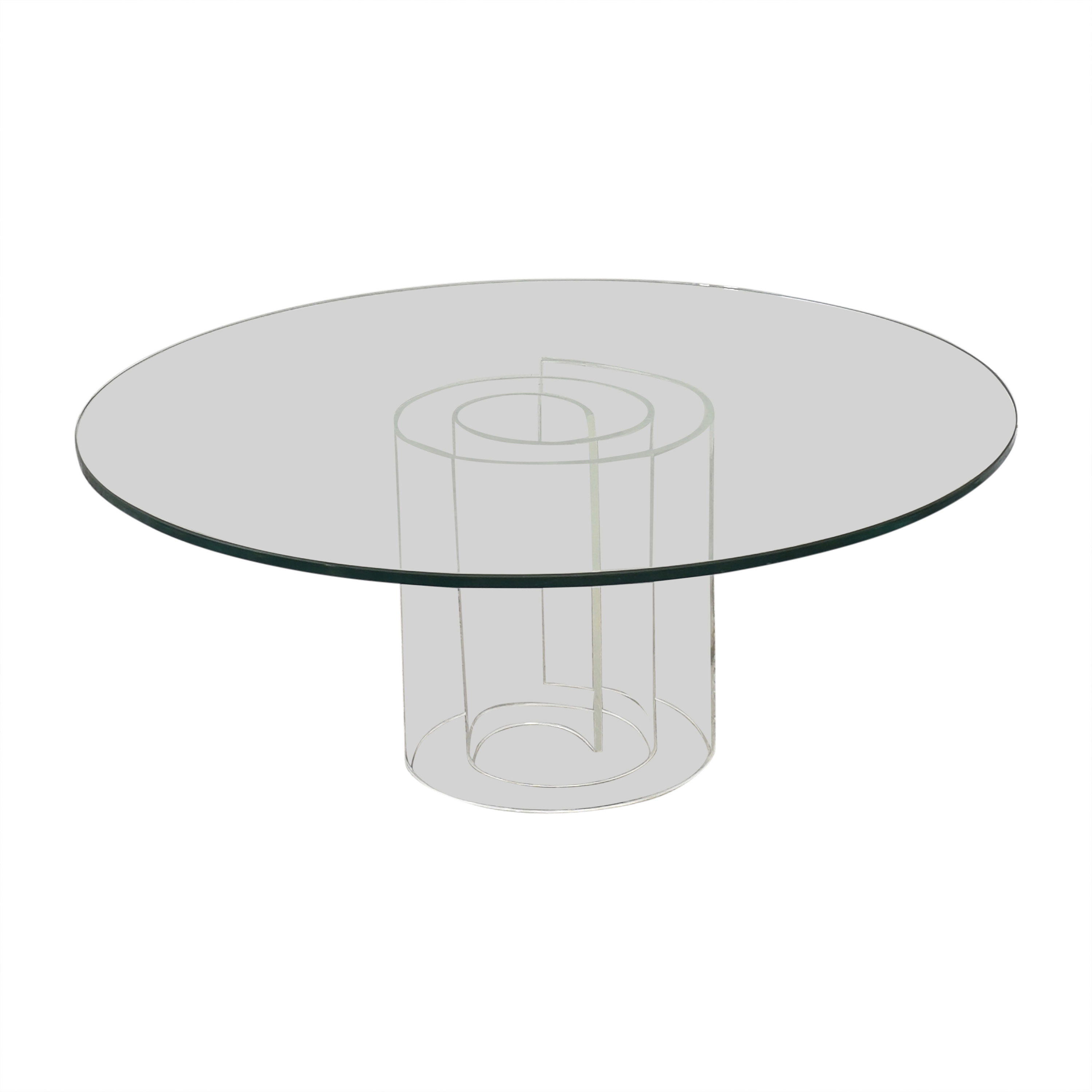 Crate & Barrel Crate & Barrel Glass Coffee Table ct