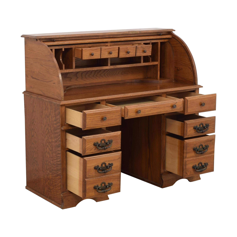 Vintage Roll-Top Wooden Desk / Tables
